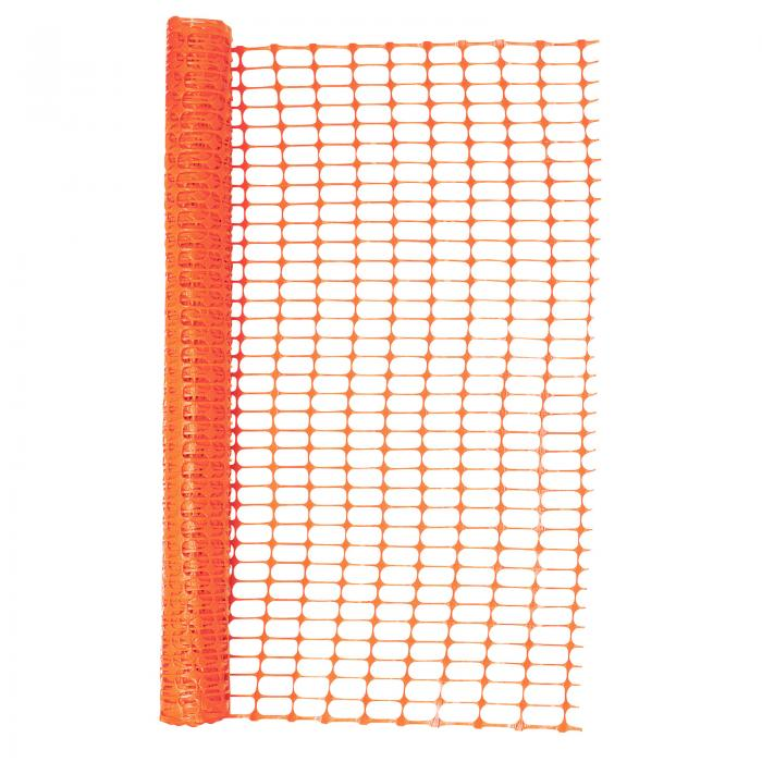 Heavy Duty Orange Safety Barrier Mesh Fencing 1mtr x 30mtr