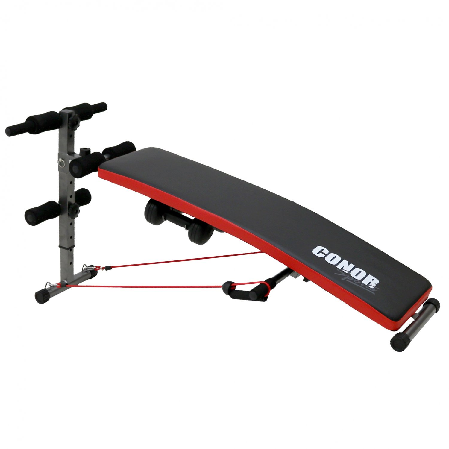 Conor Sports Sit Up AB Bench Trainer With Dumbbells + Power Rope