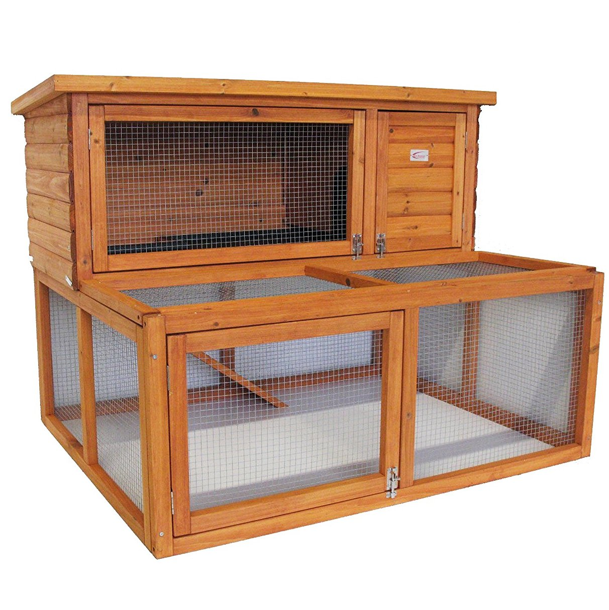 Rabbit Hutch - 2 Tier Extended Guinea Pig Pet House With Run