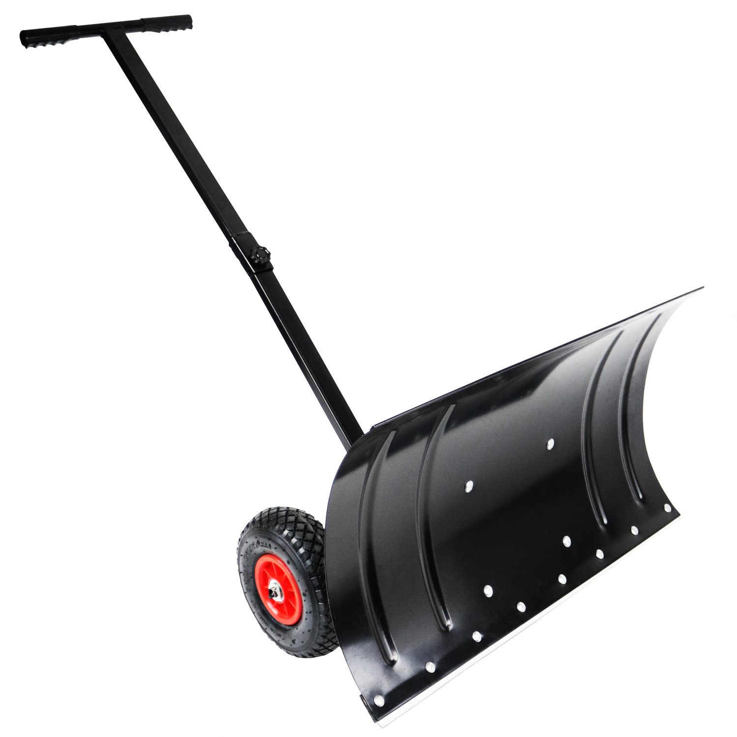 Heavy Duty Metal Snow Plow - Push Snow Shovel Plough