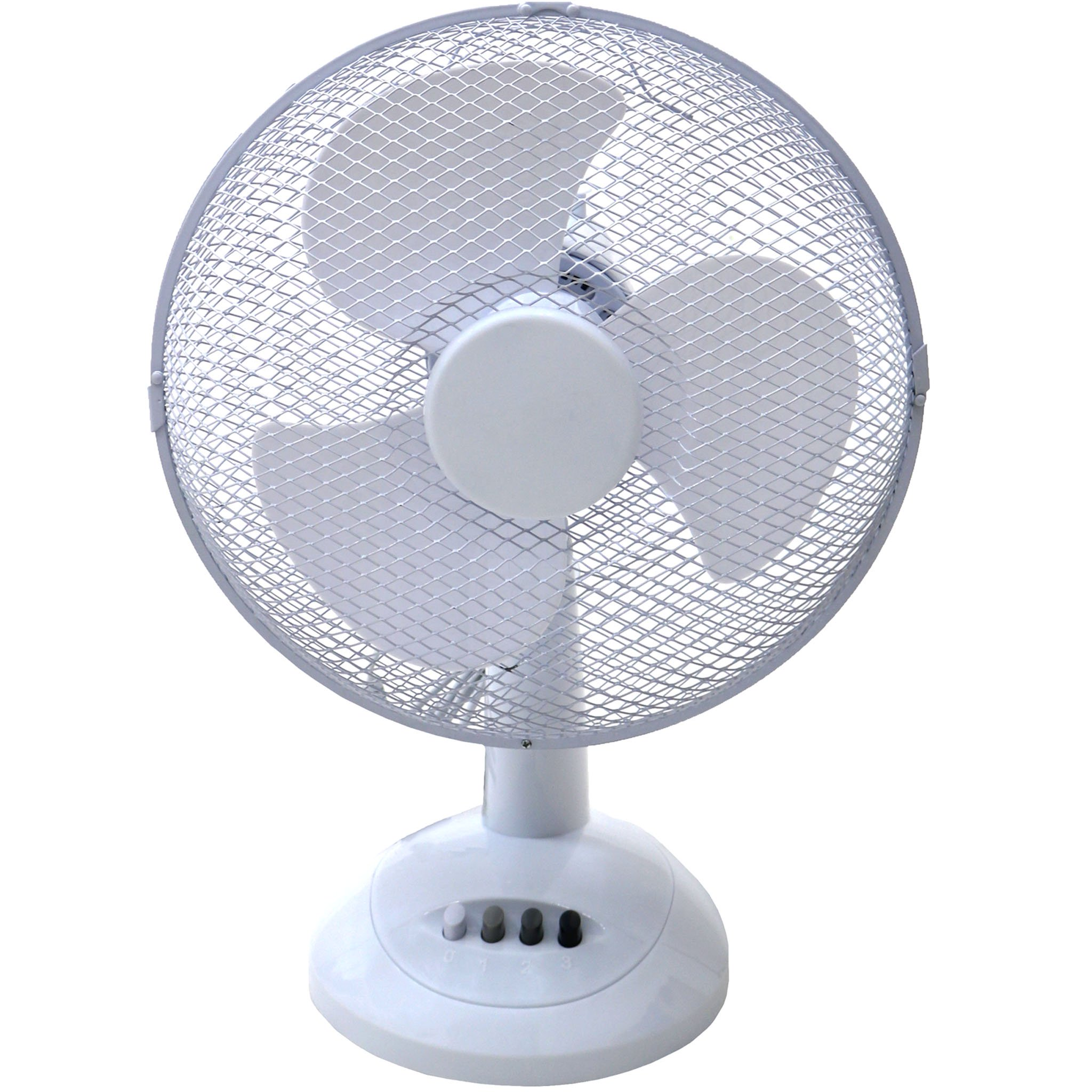 "12"" Oscillating White Desk Top Fan"