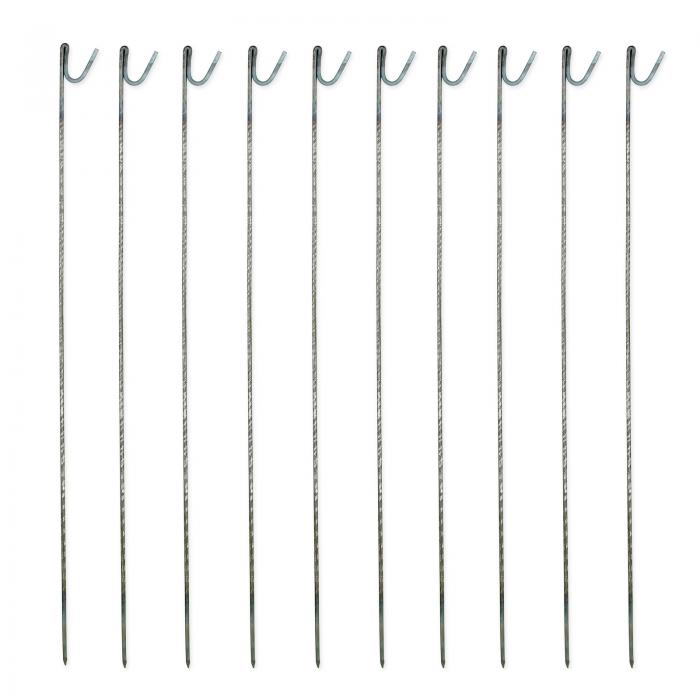 Steel Barrier Fencing Pins 10mm x 1250mm Pack Of 10