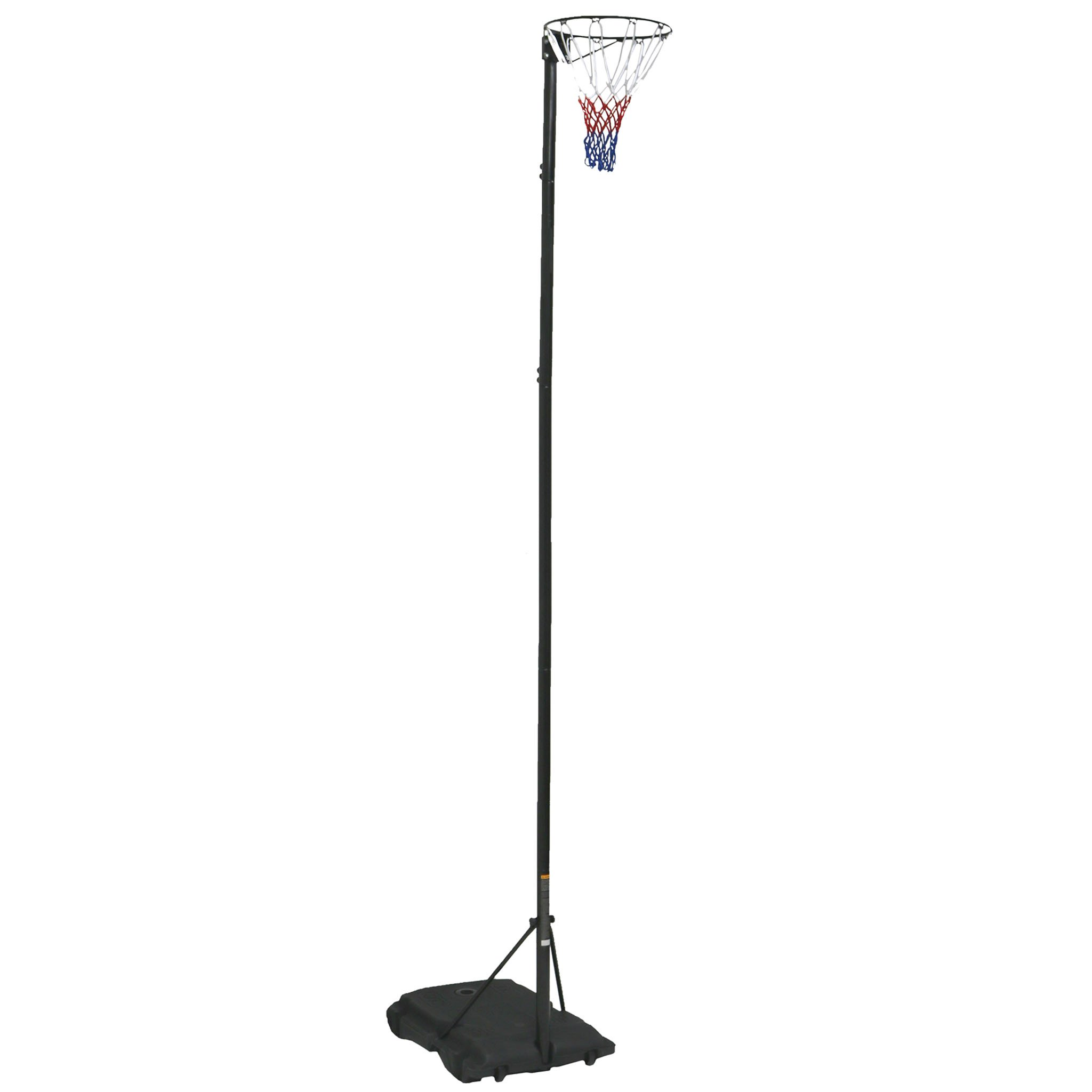 Pro Spec Adjustable Netball Net Post - Black 3.05m