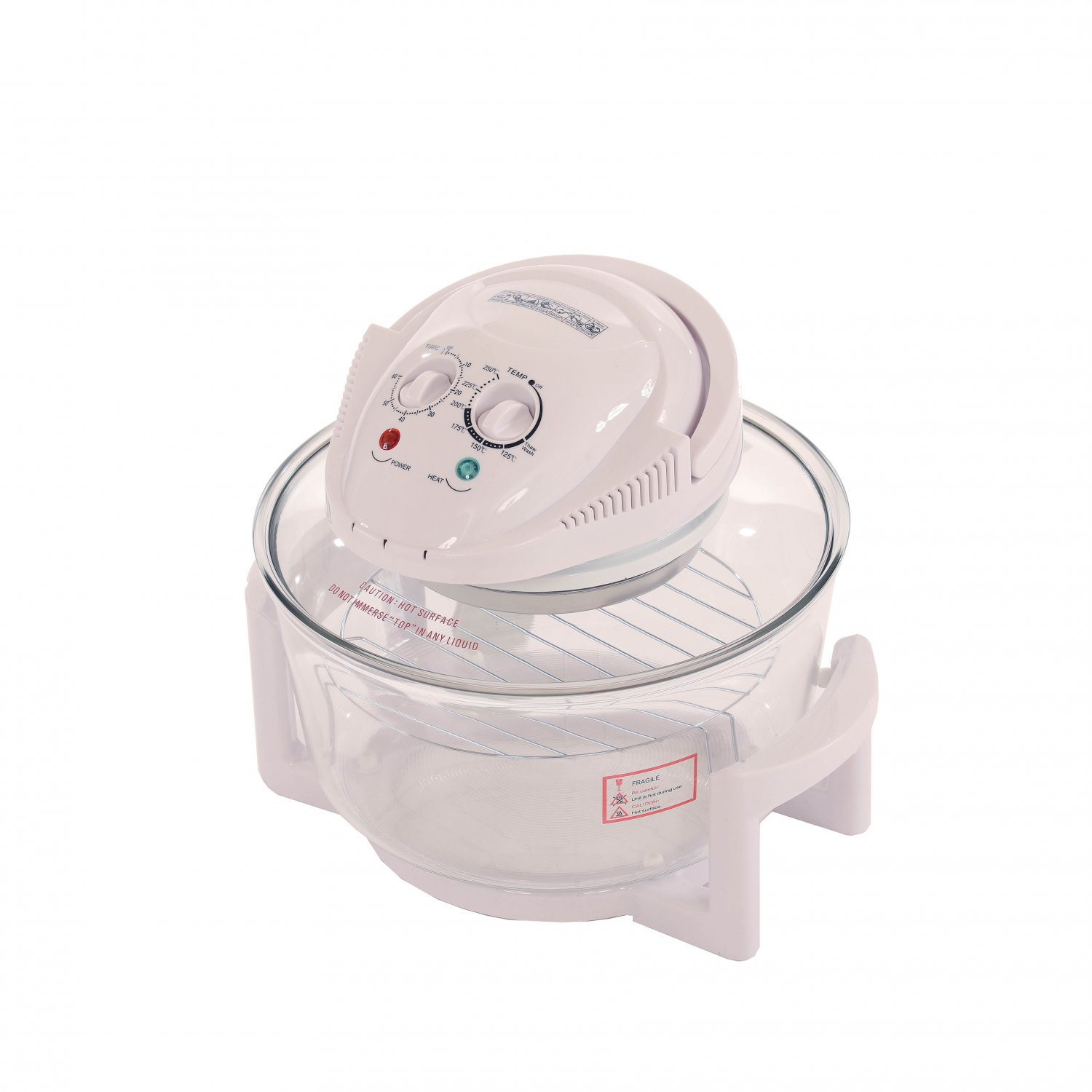 12L Litre White Portable Halogen Convection Oven Cooker 1400w