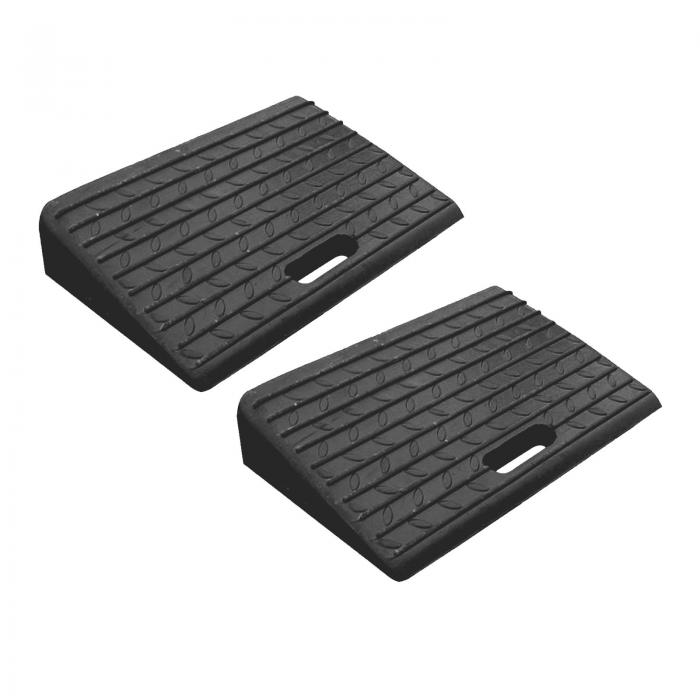 Mounted Rubber Kerb Car Ramps - Pack of 2
