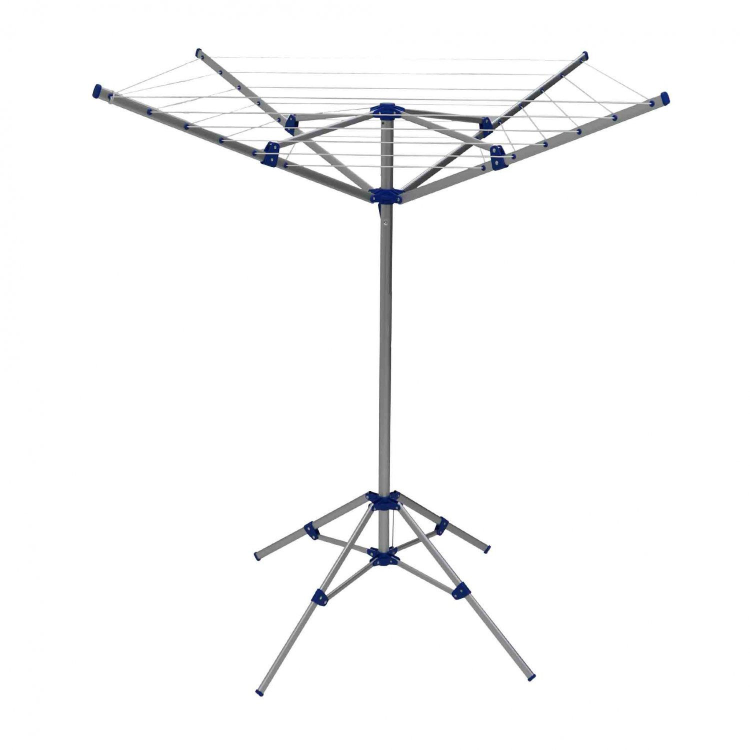 15m 4 Arm Lightweight Aluminium Rotary Airer Portable Washing