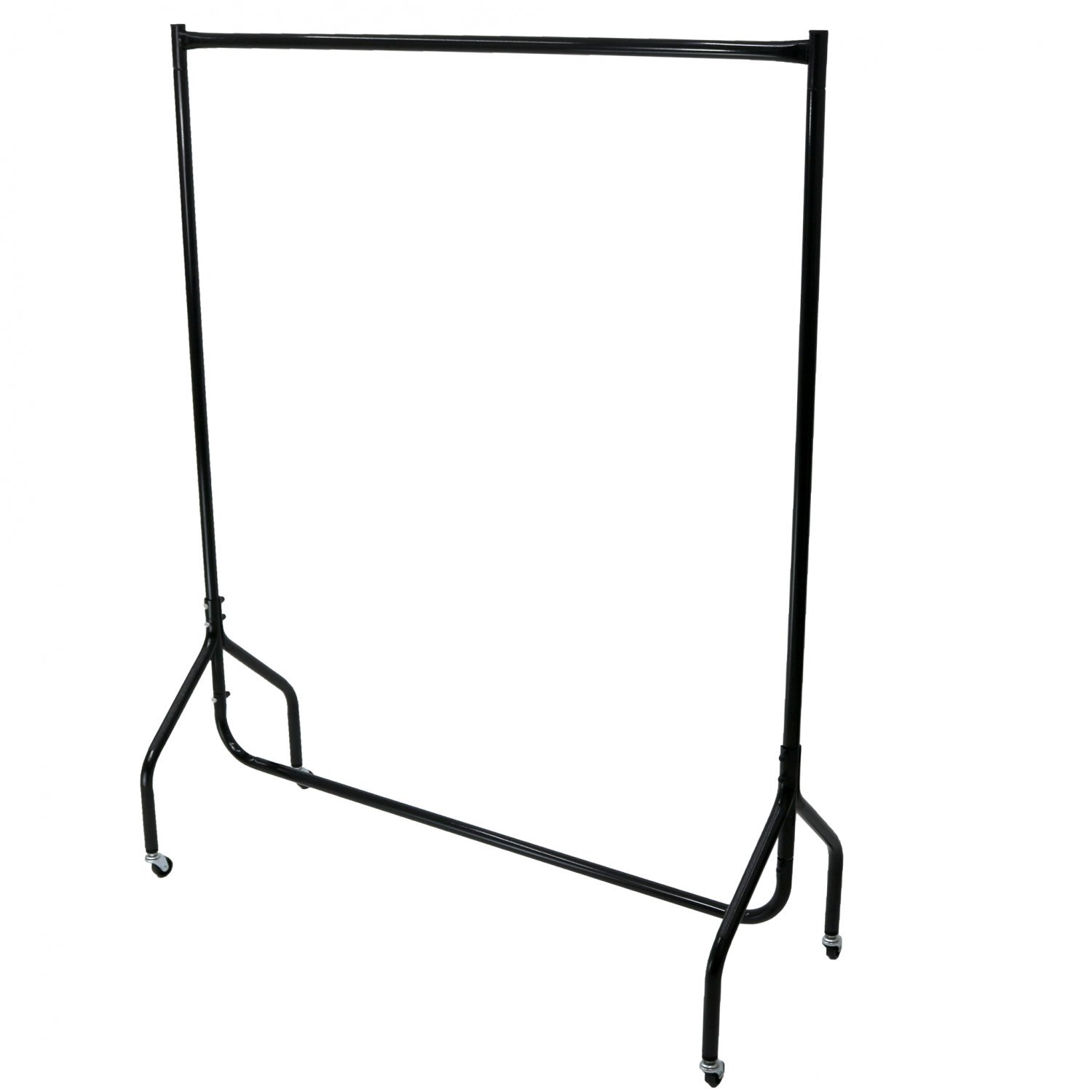 4ft Garment Clothes Rail Super Heavy Duty All Metal Black