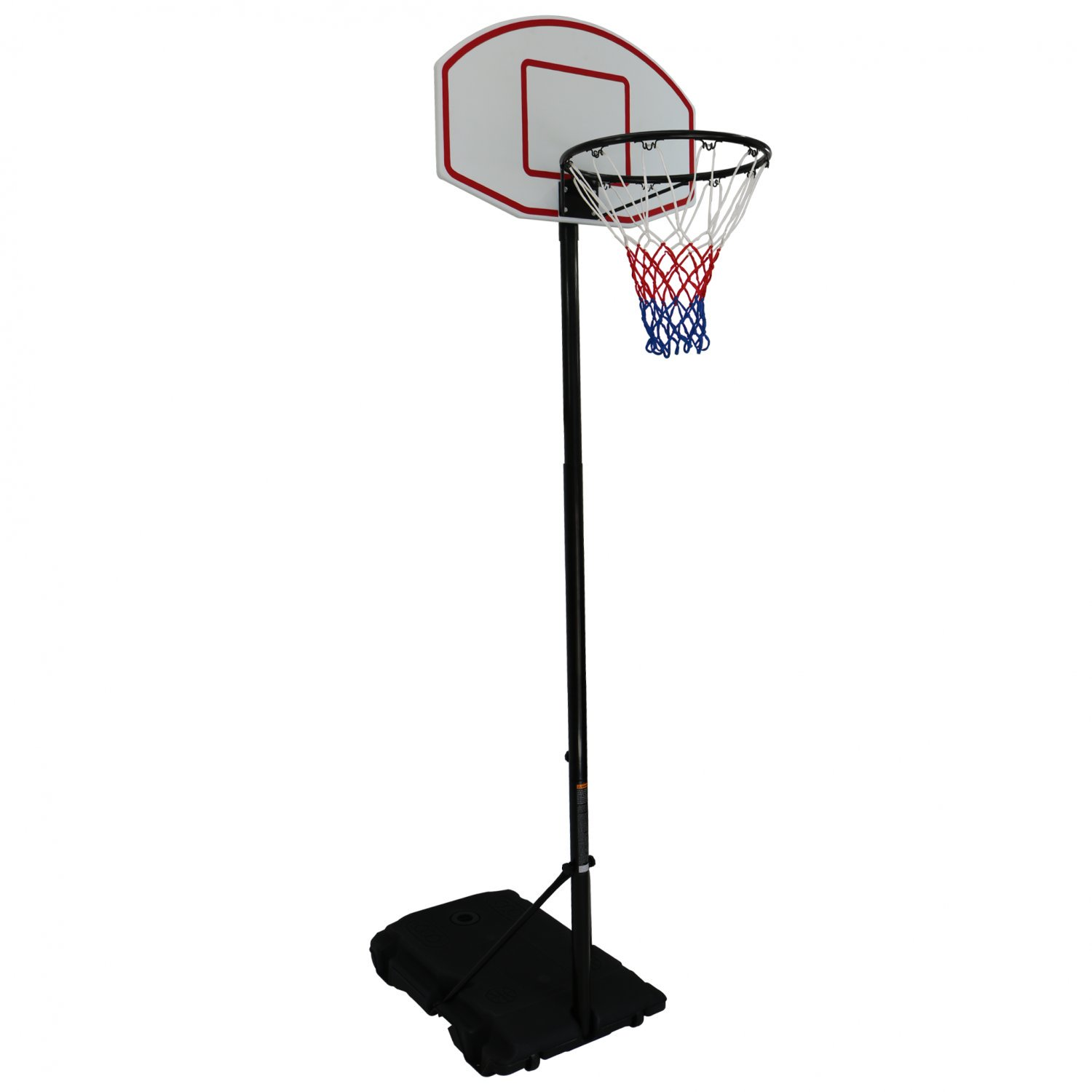 Pro Spec Adjustable Basketball Net Post - Black 2.1m