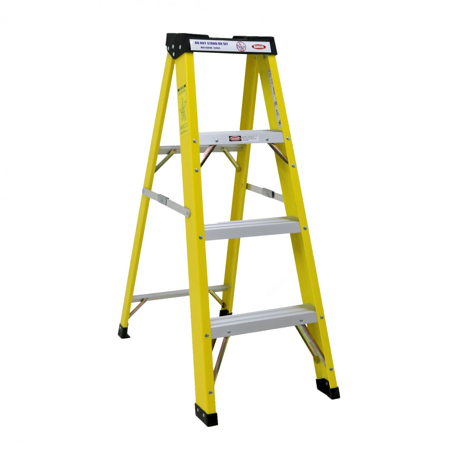 Heavy Duty Electricians Fibreglass Step Ladder 4 Tread EN131