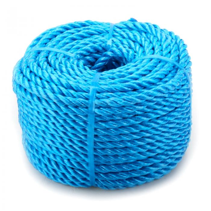 6mm x 220m Blue Heavy Duty Poly Rope Coils Polypropylene PP