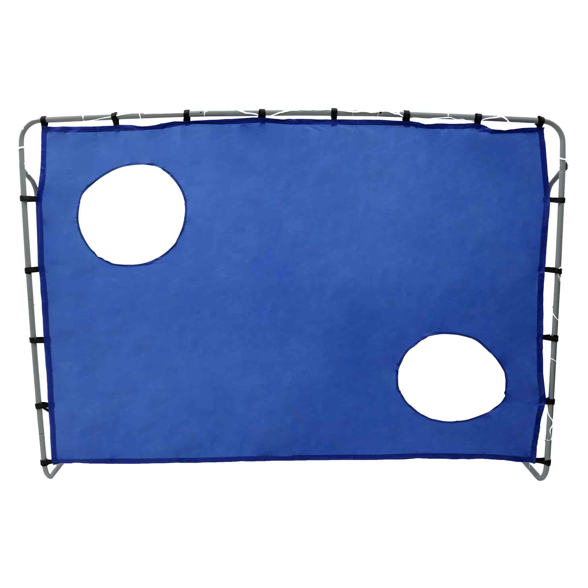 2-in-1 Football Goal with Target Shooting Practice Net 7ft x 5ft