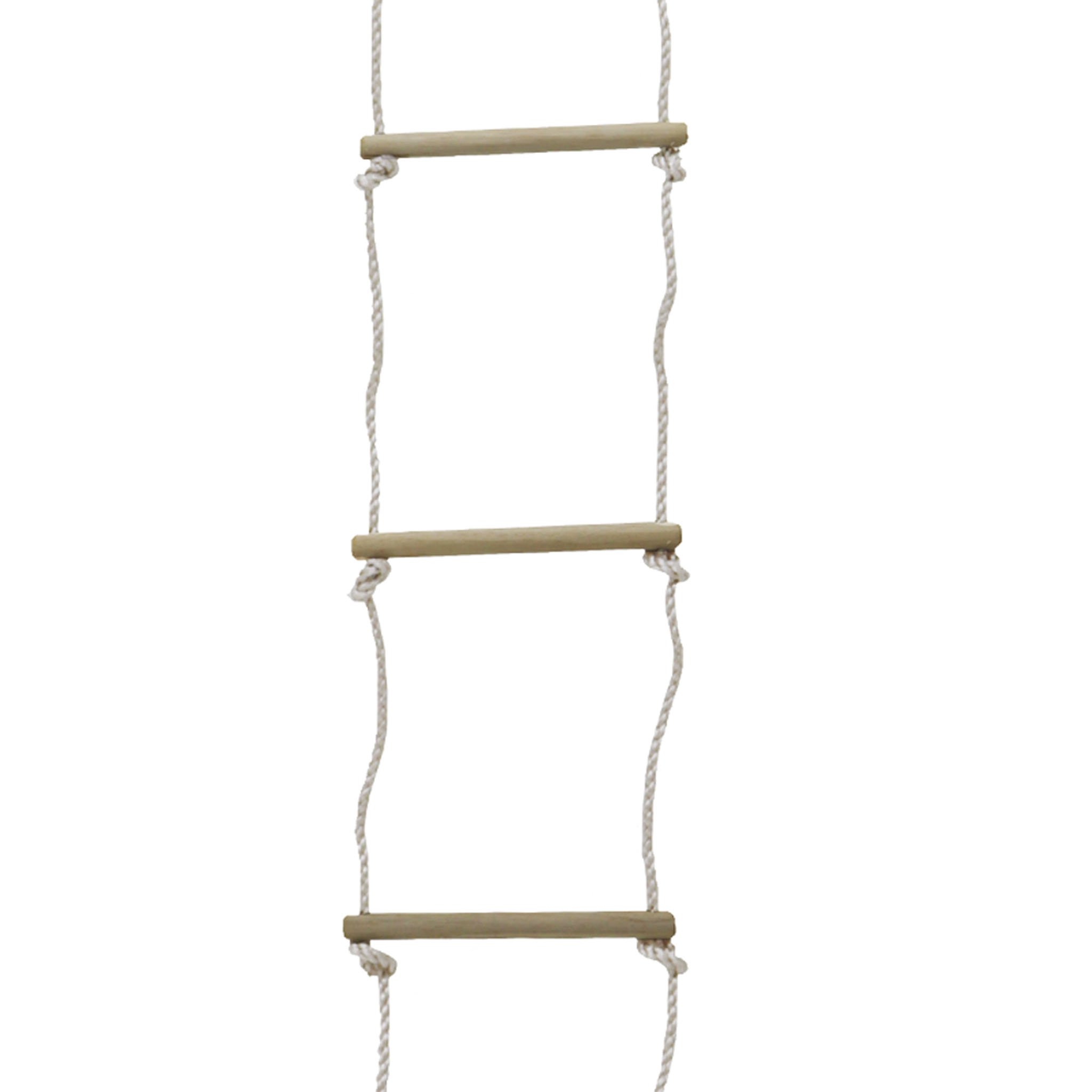 Childrens Outdoor Garden Play Rope Ladder 6 Rung Climbing Toy