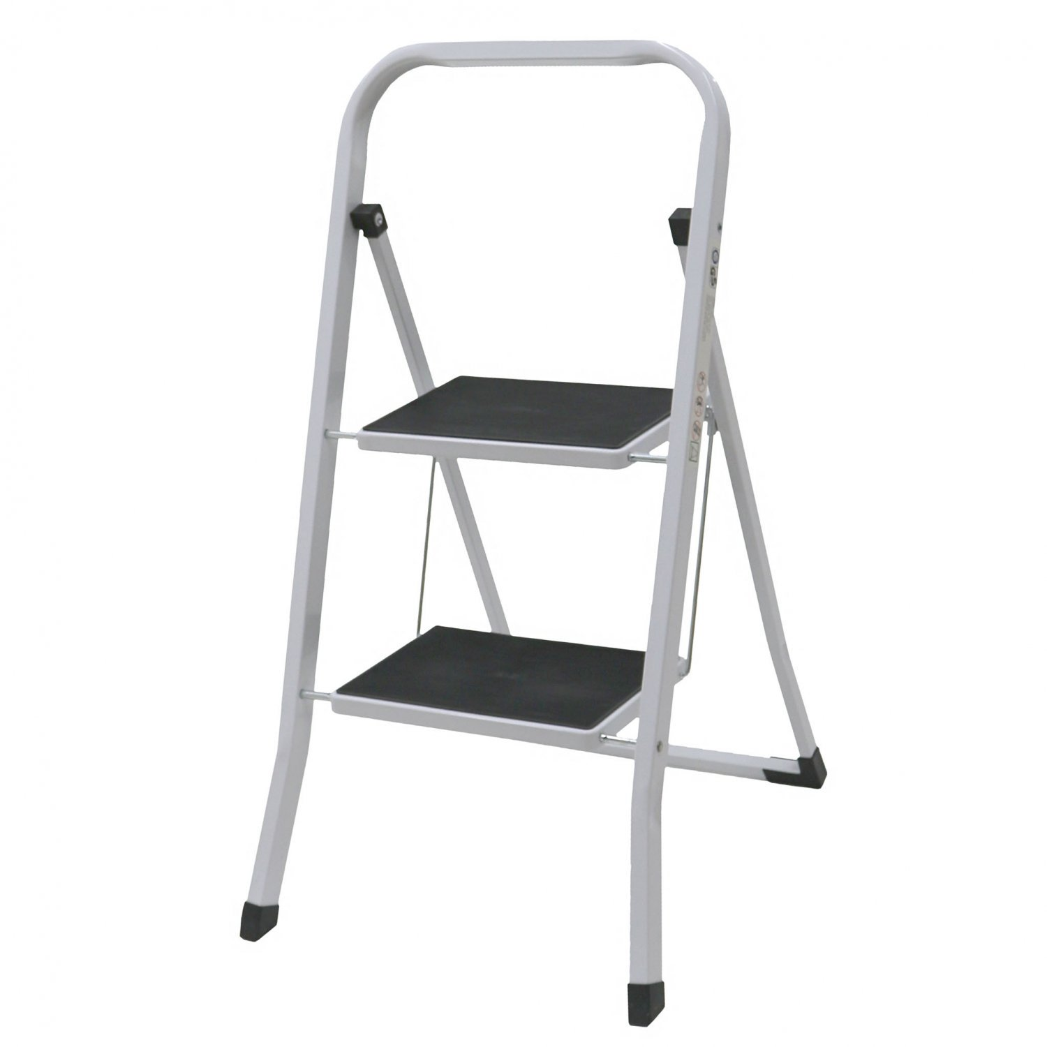 Foldable 2 Step Ladder Stepladder Non Slip Tread Safety Steel
