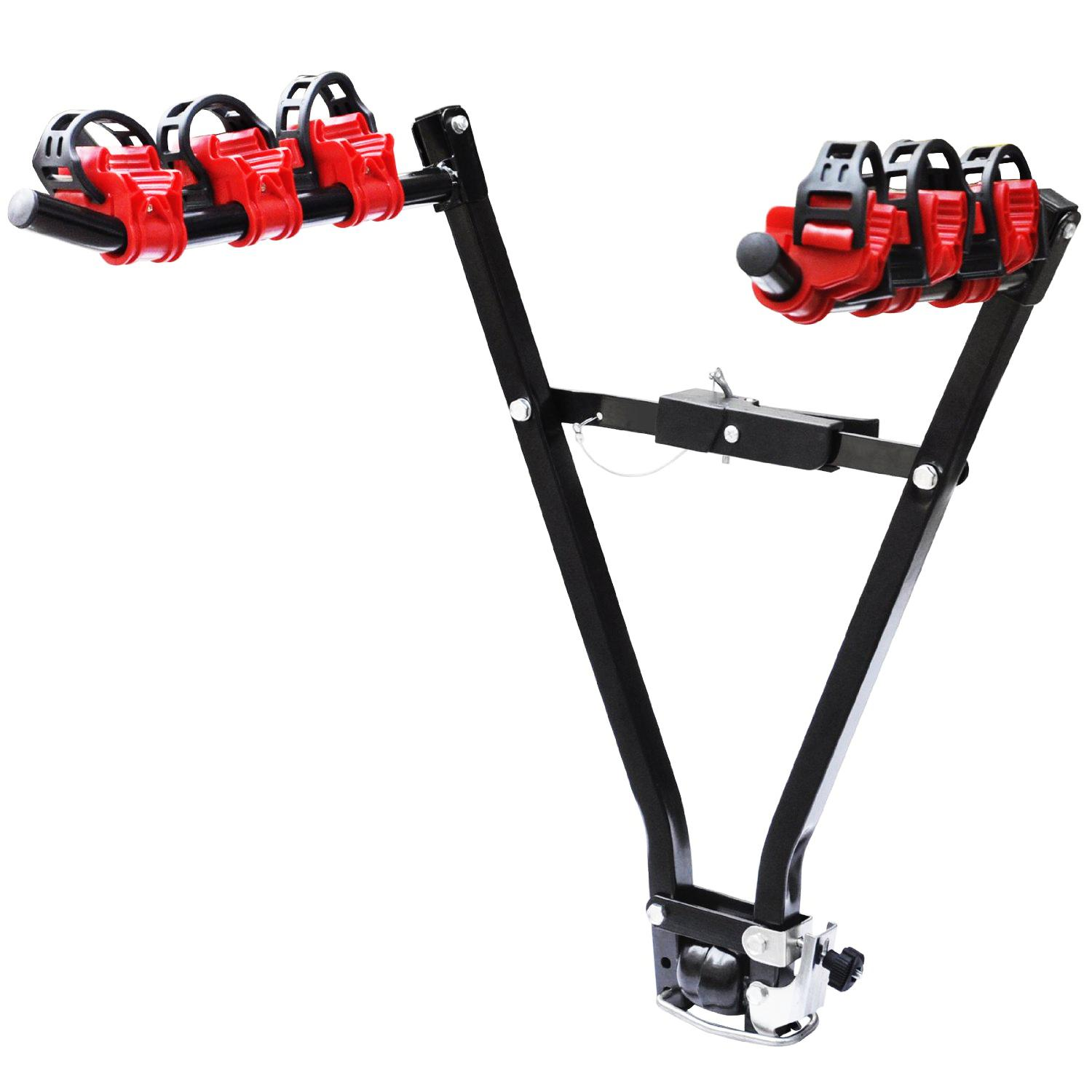 Universal 3 Bike Bicycle Tow Bar Car Mount Rack Stand Carrier