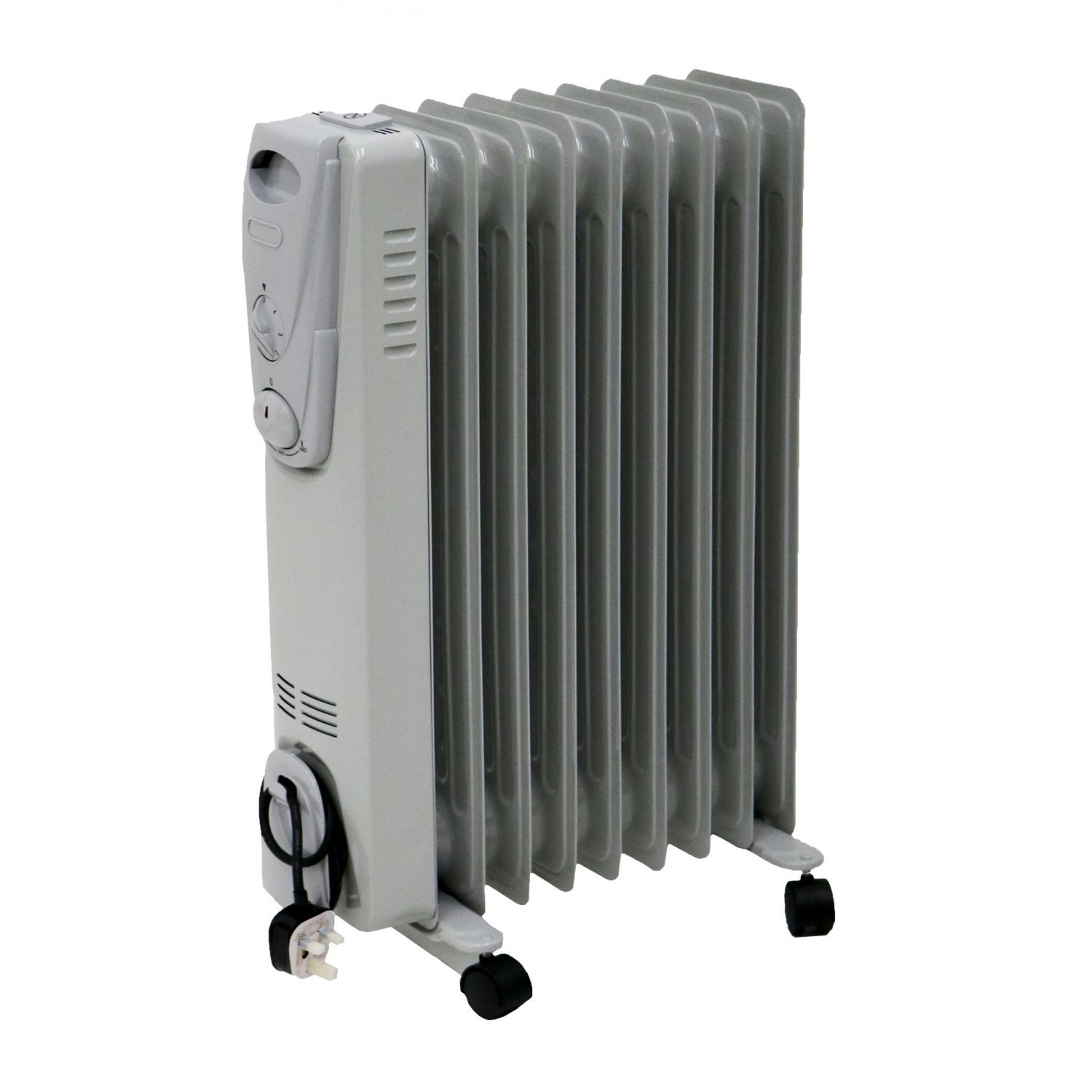2000W 9 Fin Portable Oil Filled Radiator Electric Heater