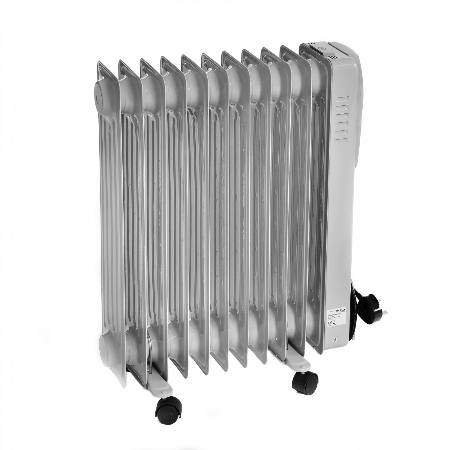 2500W 11 Fin Portable Oil Filled Radiator Electric Heater