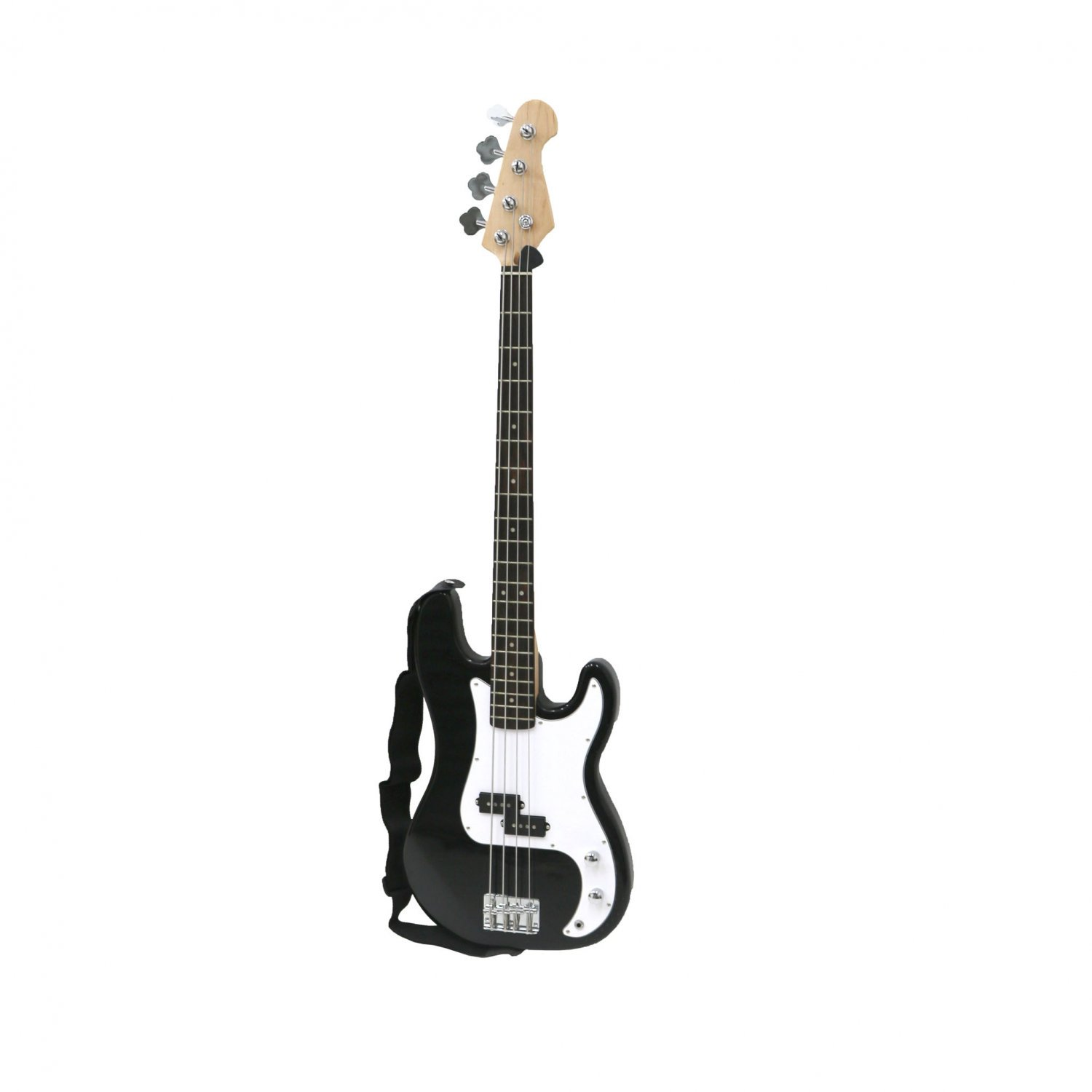 PB Precision Style Black 4 String Electric Bass Guitar