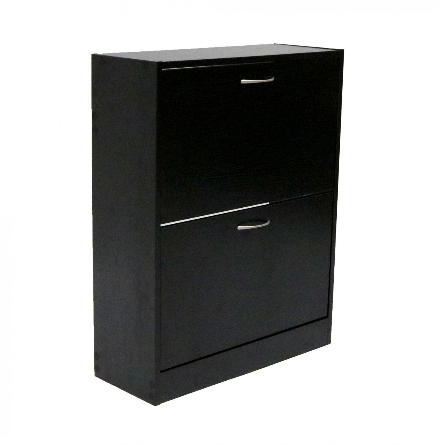 2 Drawer Wood Effect Shoe Storage Cupboard Cabinet Furniture