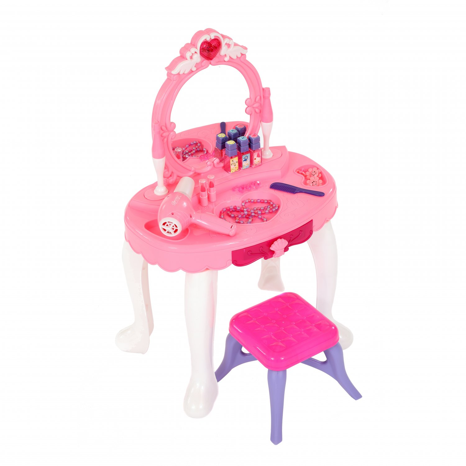 Childrens Kids Girls Play Toy Dressing Table Glamour Mirror