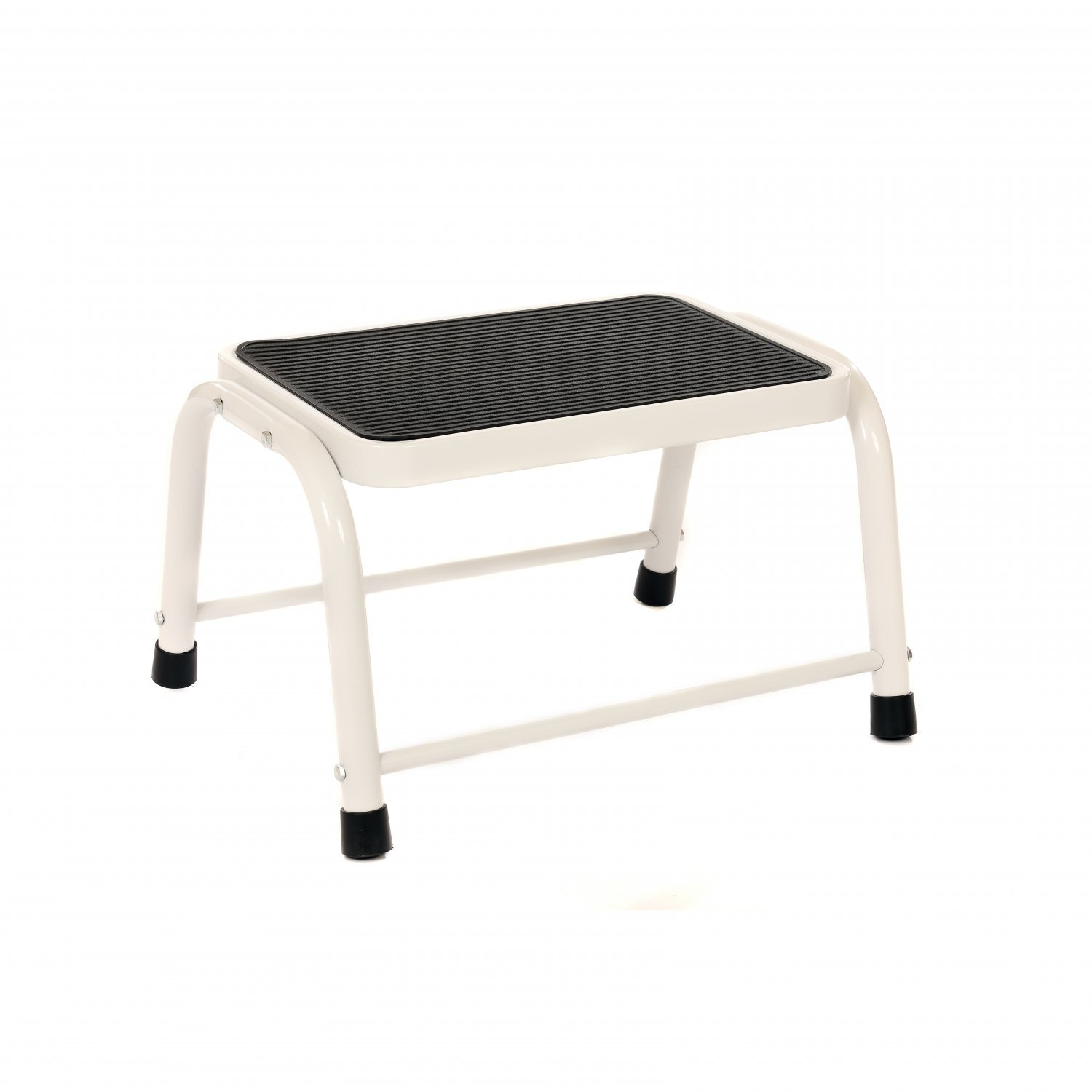 Single Caravan Step Stool Steel Non Slip Rubber Tread Safety