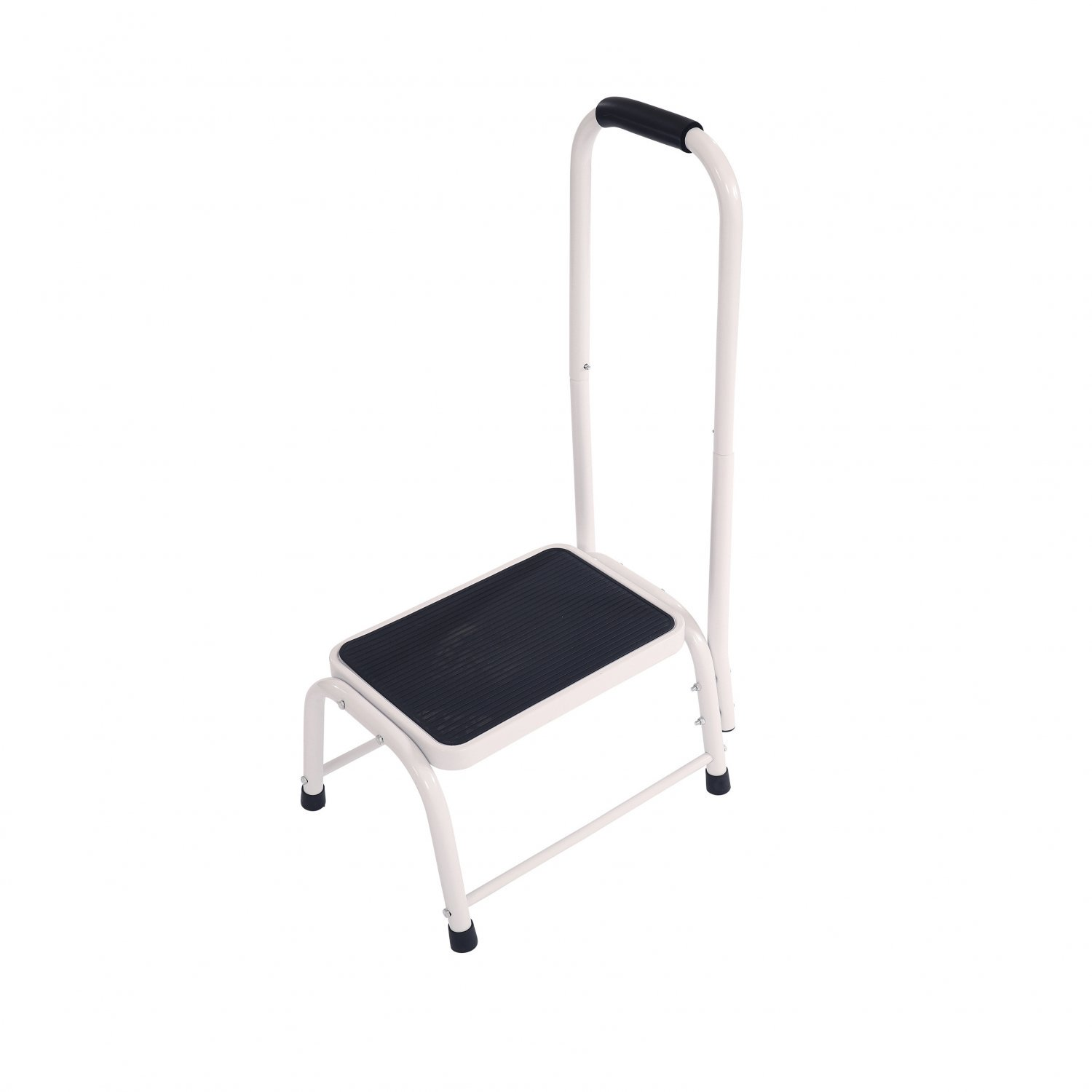 Single Caravan Step Stool Steel Non Slip Rubber Tread Safety wit