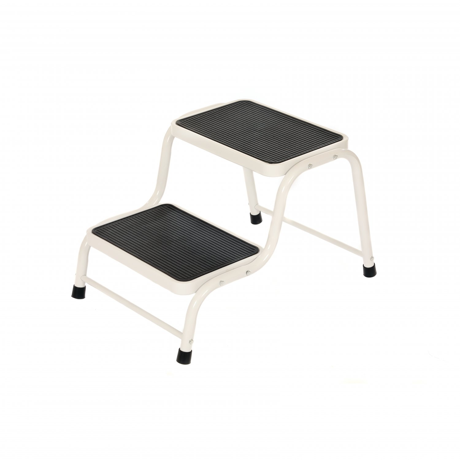Double Caravan Step Stool Steel Non Slip Rubber Tread Safety