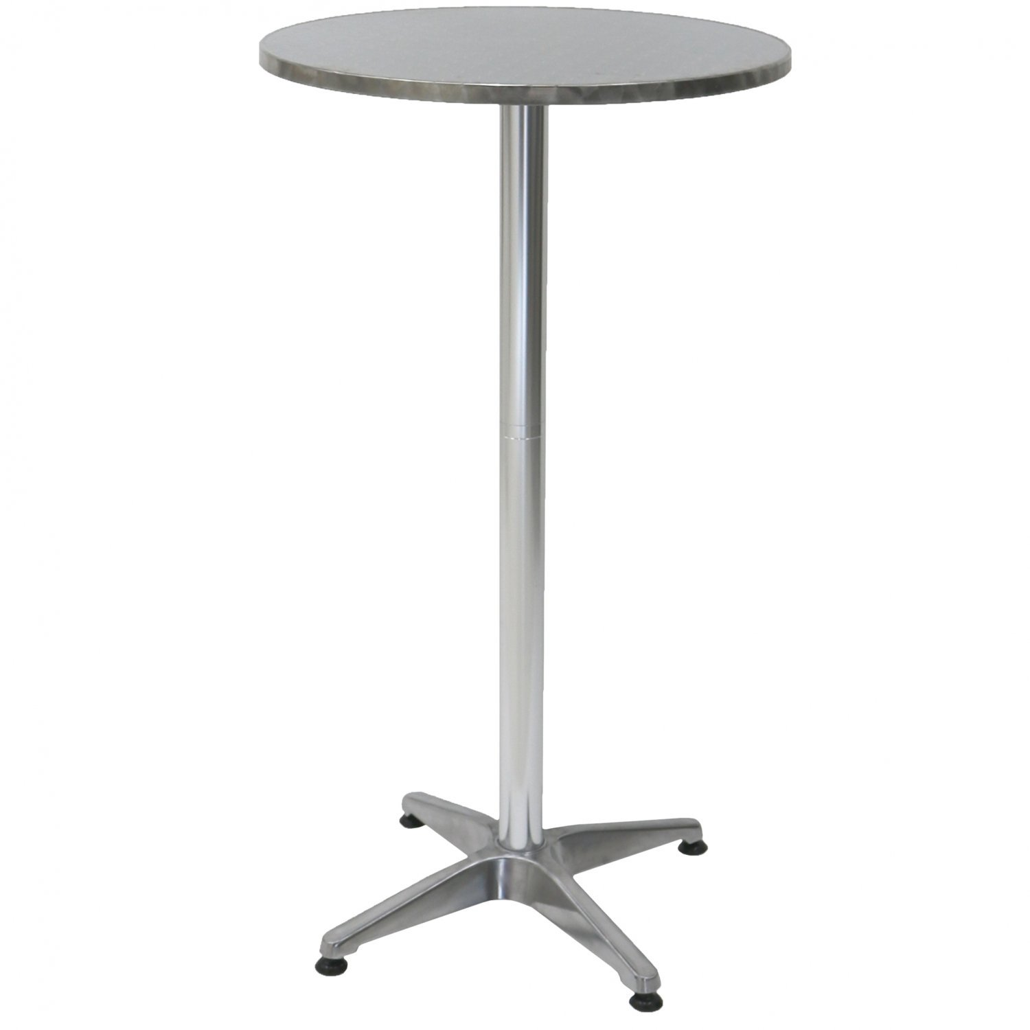 1.1m Aluminium Bistro Table Bar Pub Cafe Party Adjustable Height