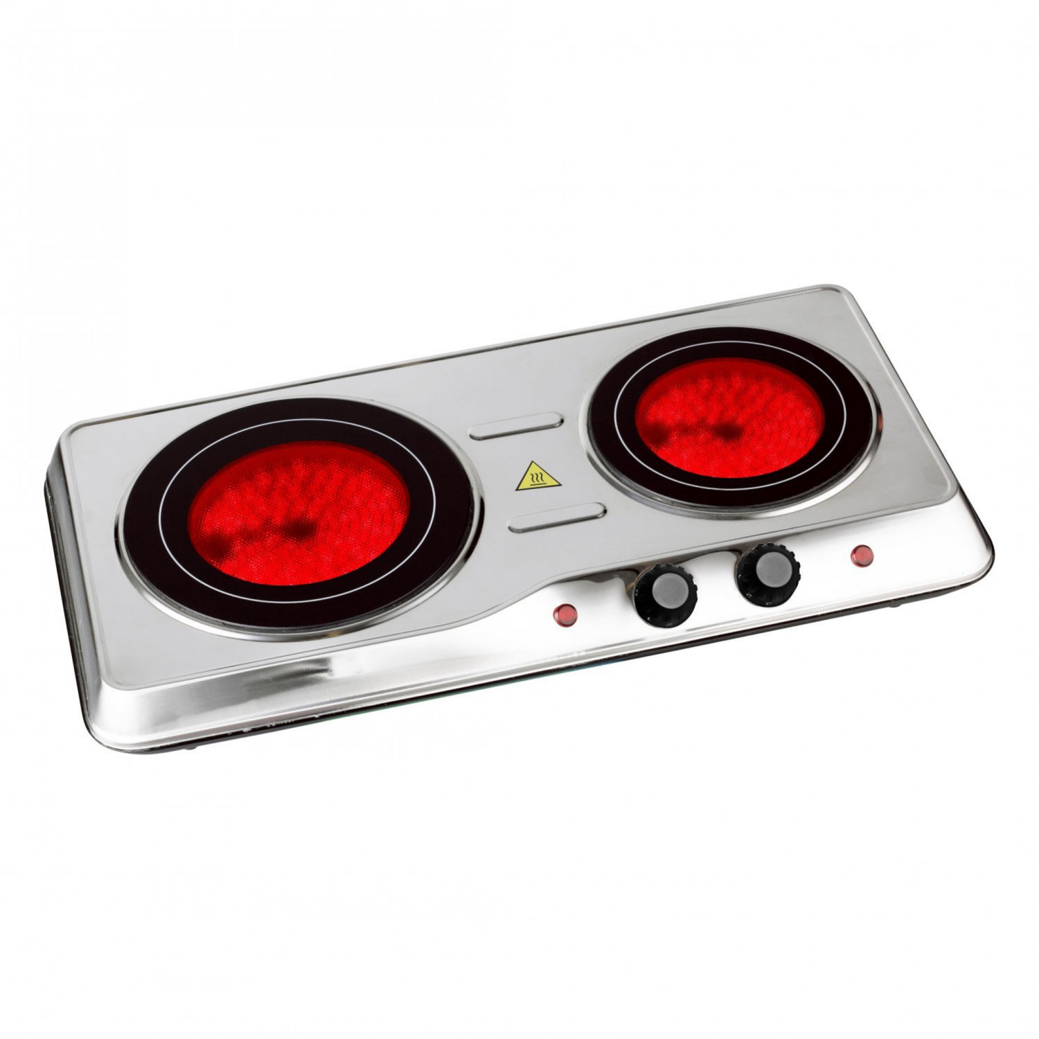 2000W Ceramic Portable Infrared Electric Double Hot Plate Hob