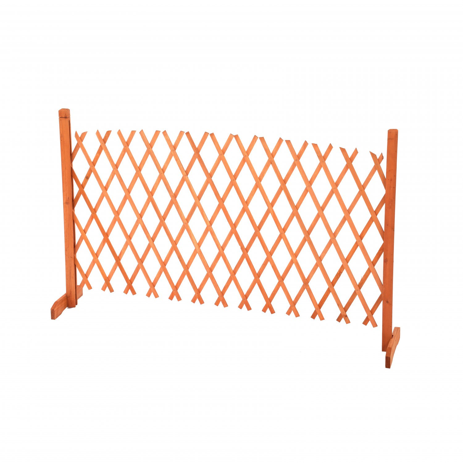 Arched Expanding Freestanding Wooden Trellis Fence Garden Screen