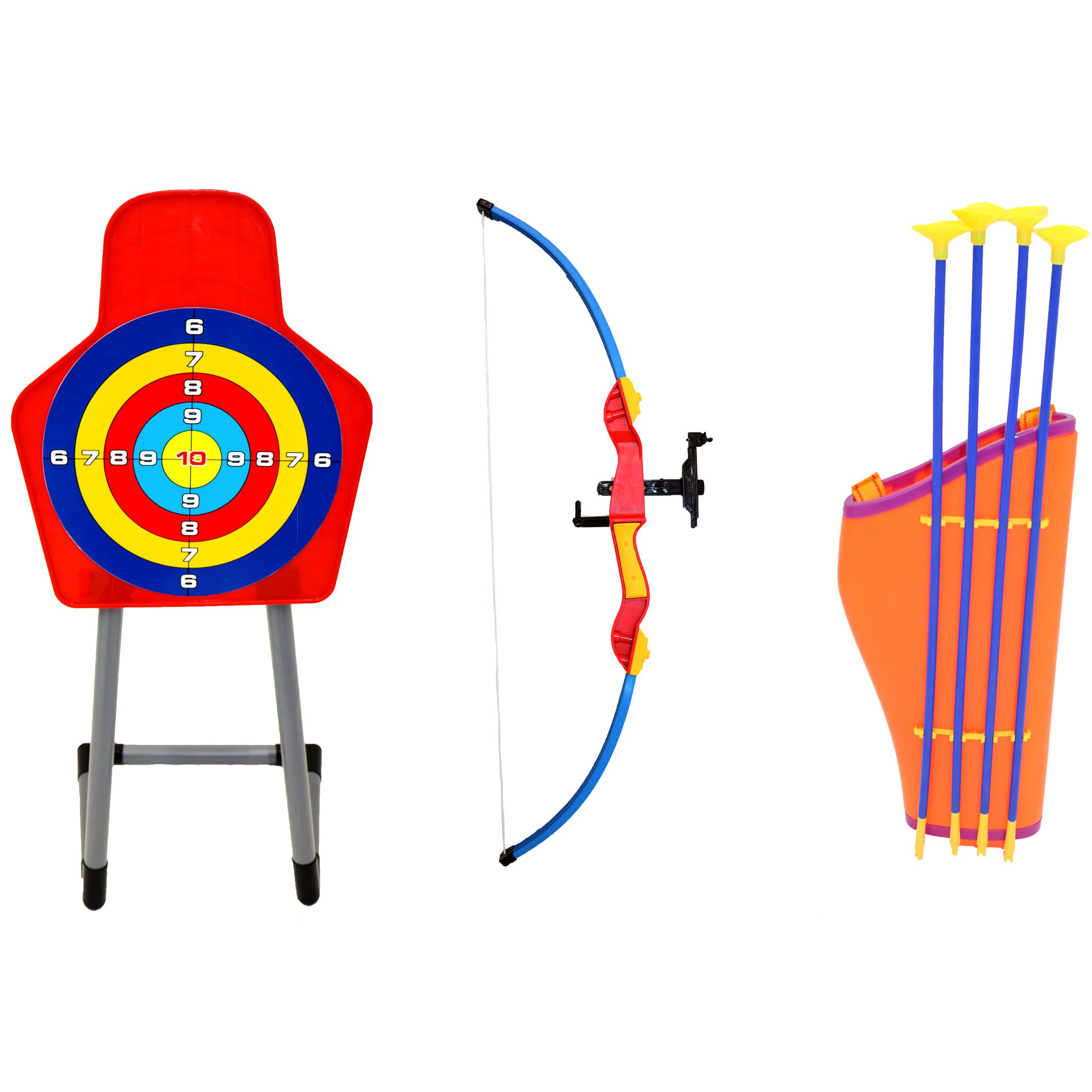 Kids Toy Bow & Arrow Archery Target Set Outdoor Garden Game