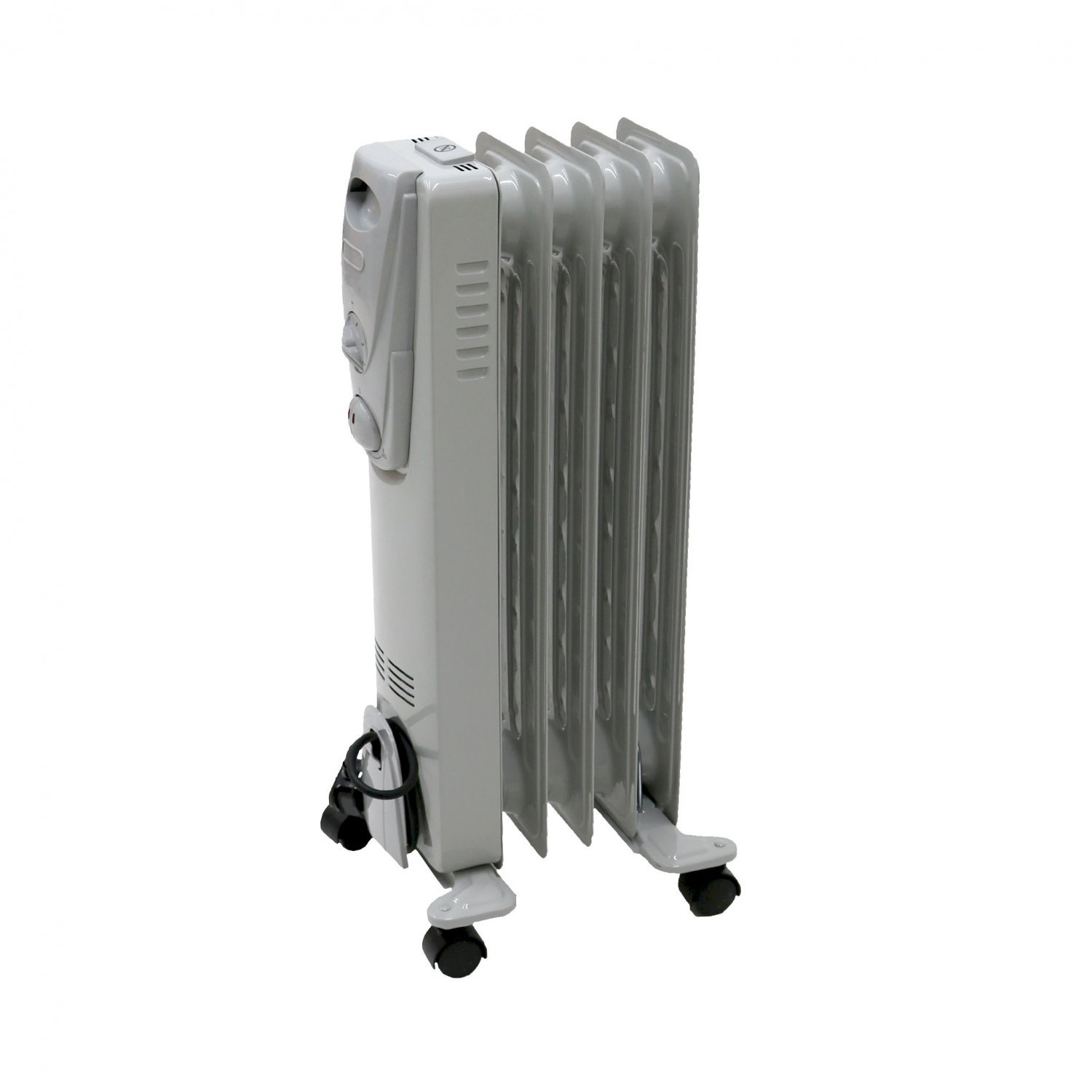 1000W 5 Fin Portable Oil Filled Radiator Electric Heater