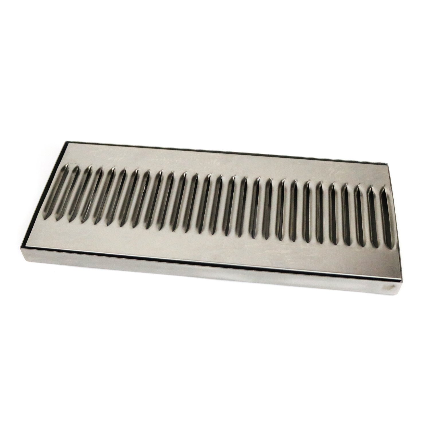 Stainless Steel Long Bar Beer Drip Tray 35 x 16cm