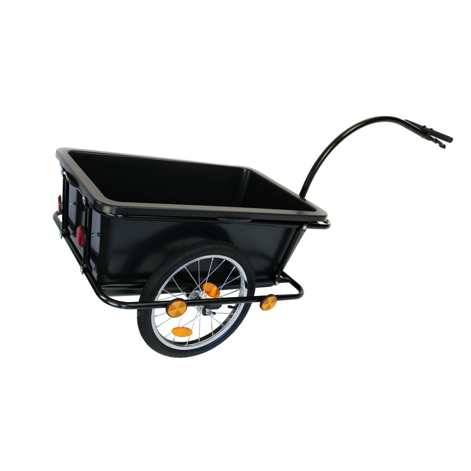 Bike Trailer Trolley with Coupling & Pneumatic Tyre 90L Cargo