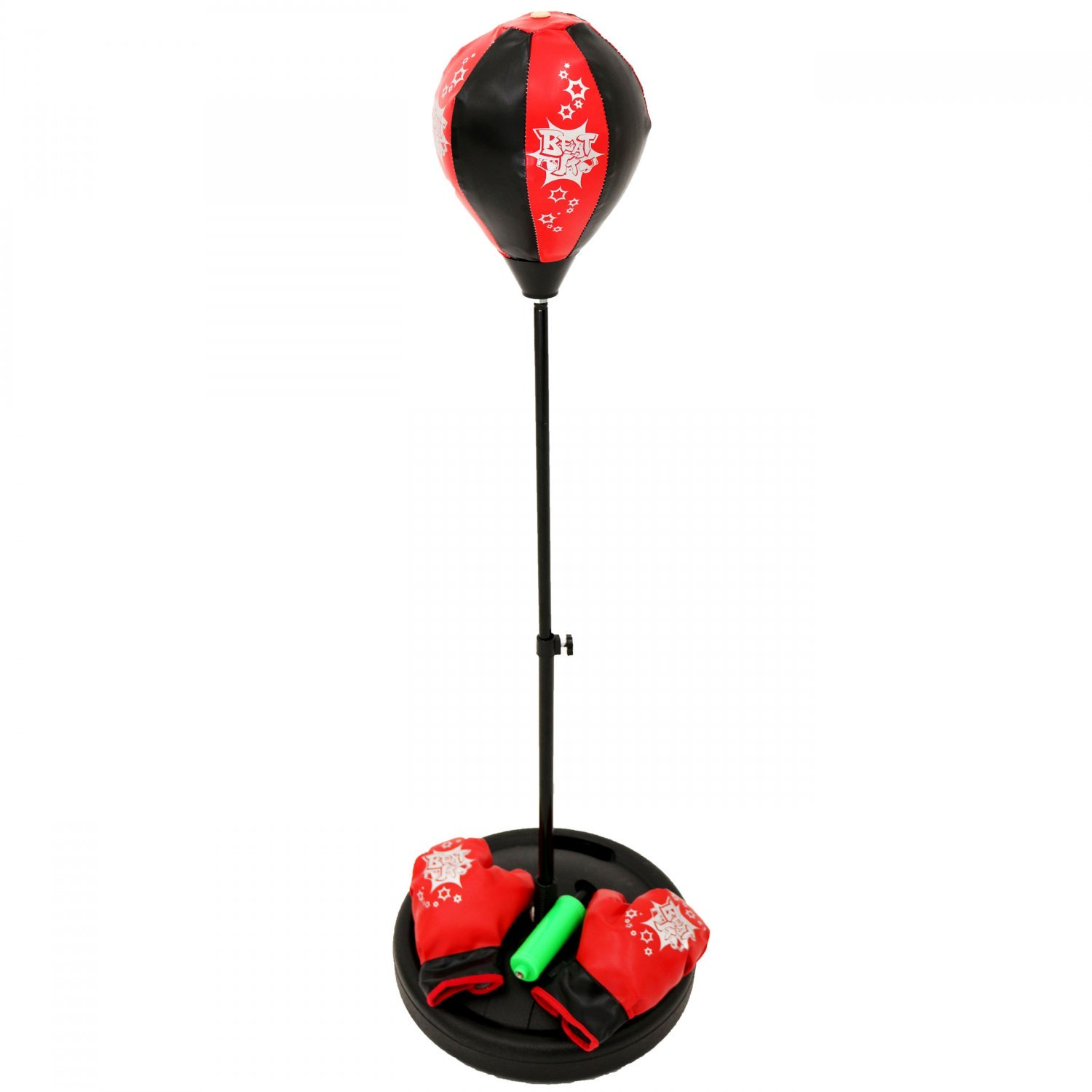 Kids Freestanding Punching Bag Ball Boxing Set with Gloves