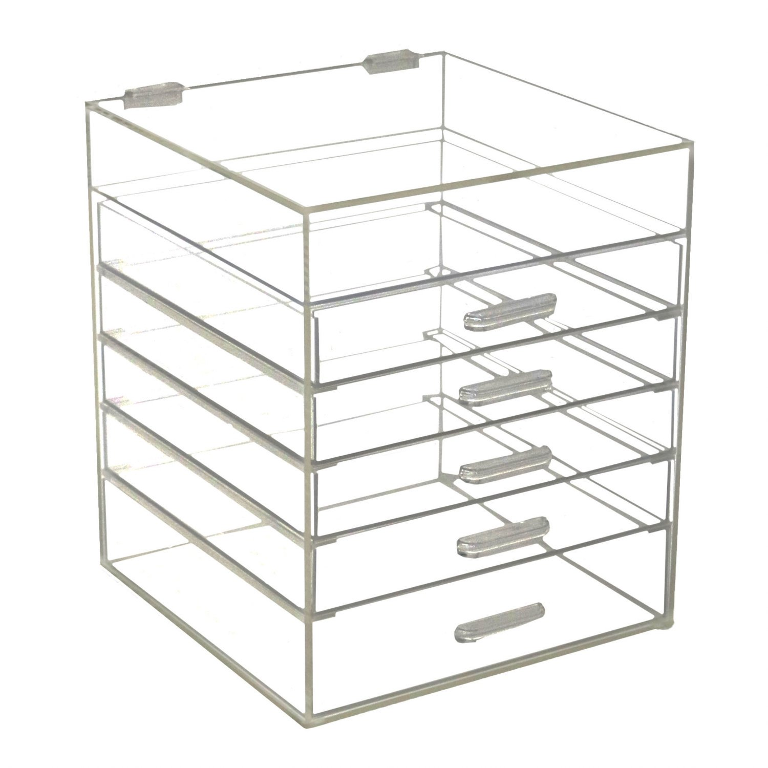 6 Drawer Clear Arylic Makeup Organiser Cosmetic Display Case