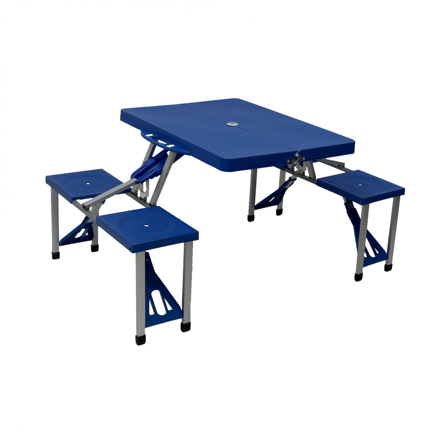 Portable Folding Outdoor Picnic Table and Bench Set 4 Seats