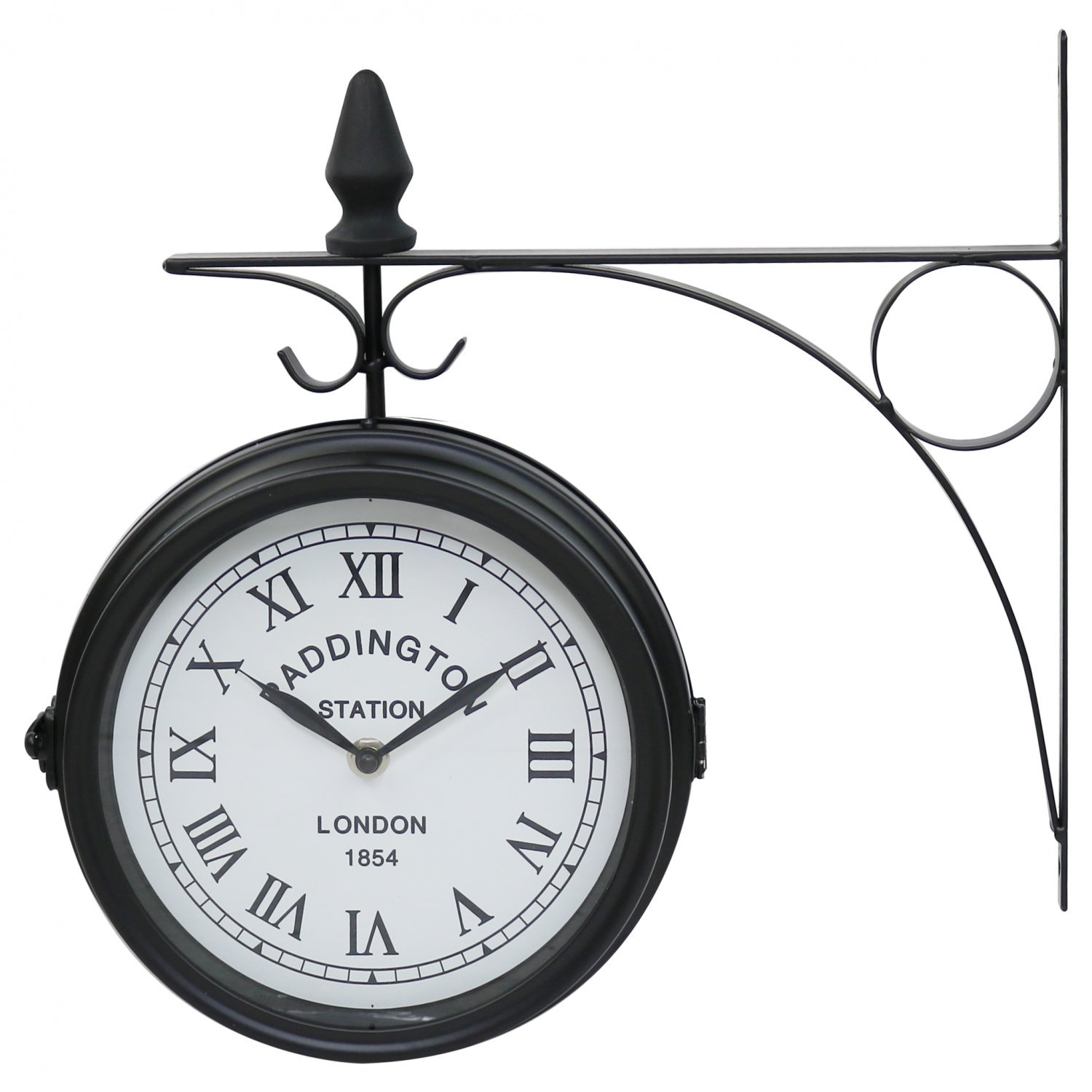 Double Sided Paddington Station Outdoor Garden Wall Clock