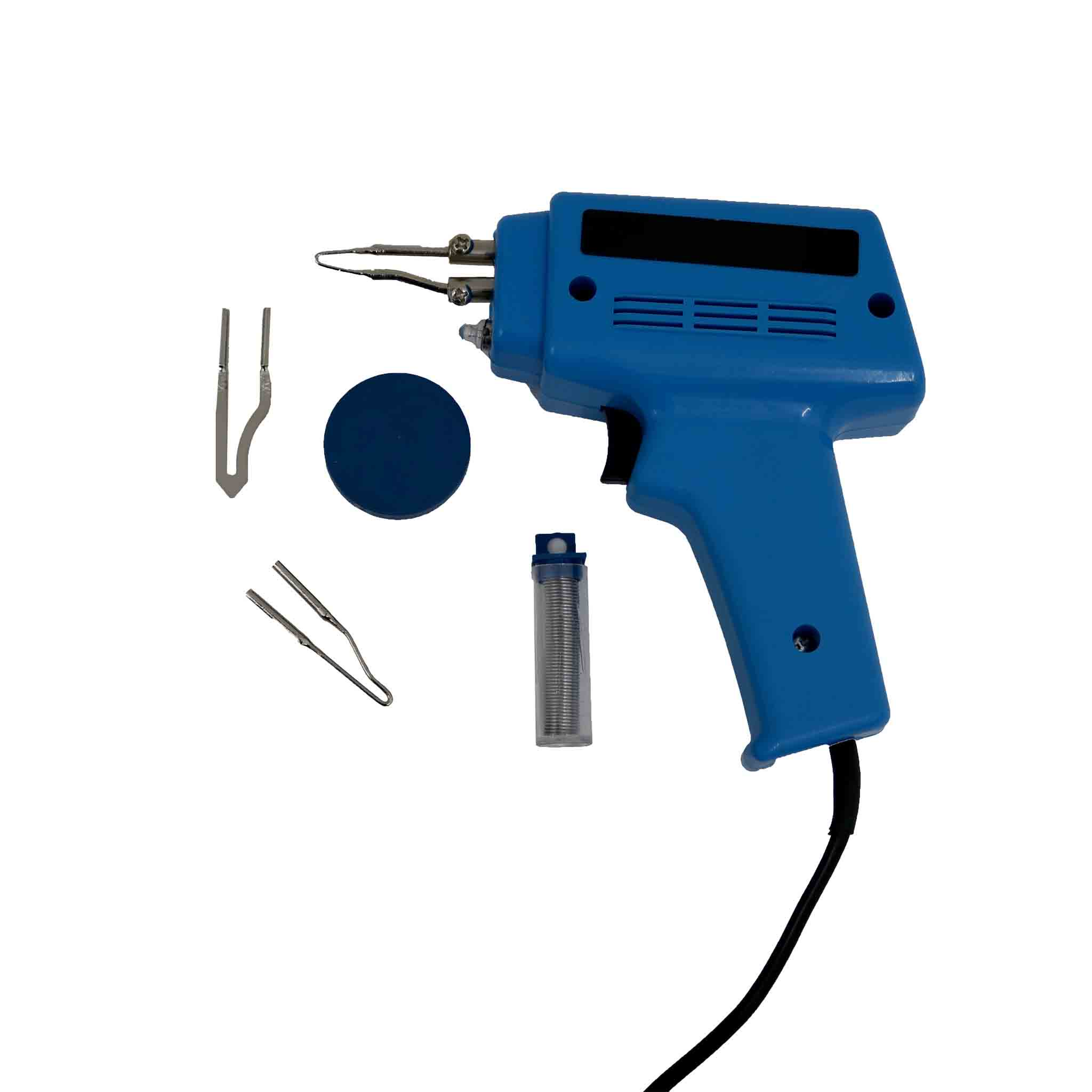 100W Electric Soldering Gun Iron Kit with 3 Tips, Solder & Flux