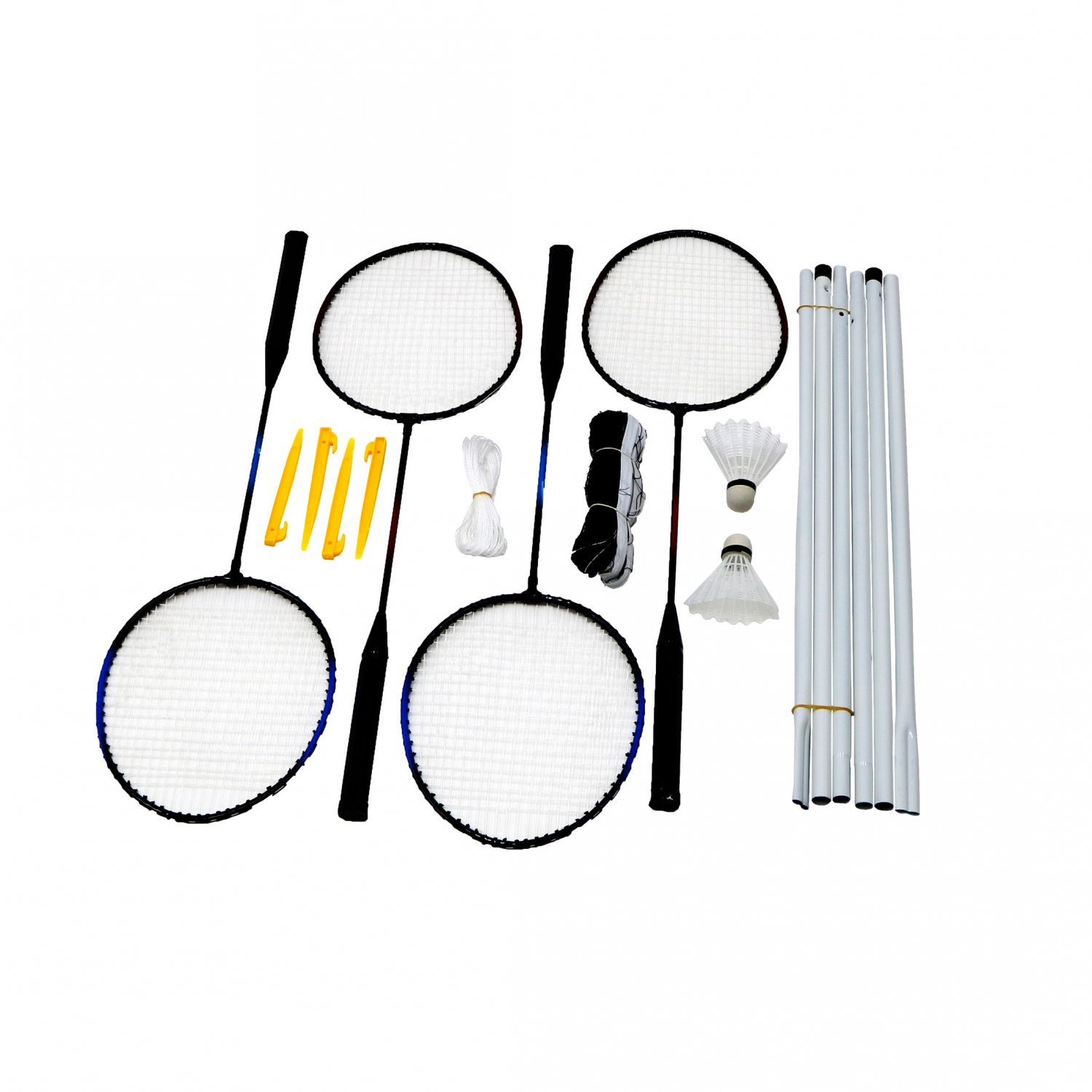 4 Player Badminton Set w/ Racket, Net, Shuttlecocks & Carry Bag