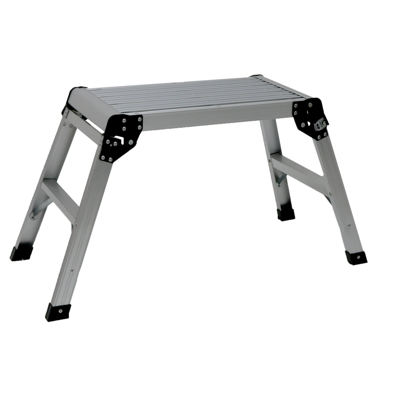 150kg Folding Aluminium Work Platform Step Up Bench Ladder EN131