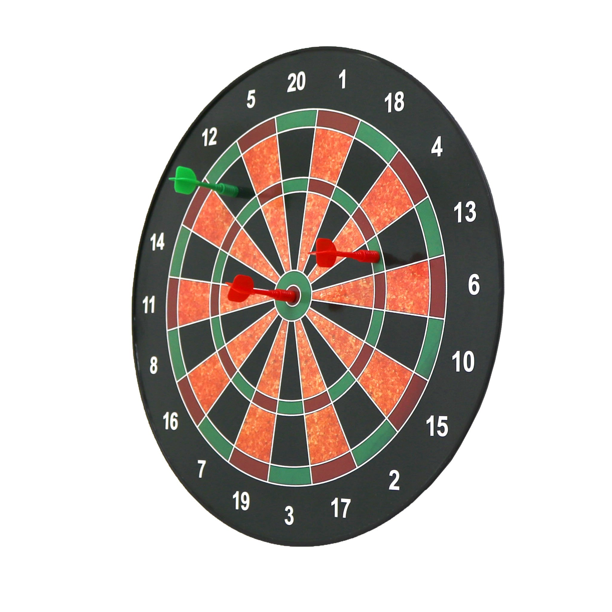 "16"" Magnetic Kids Toy Play Dart Board Dartboard with 6 Darts"
