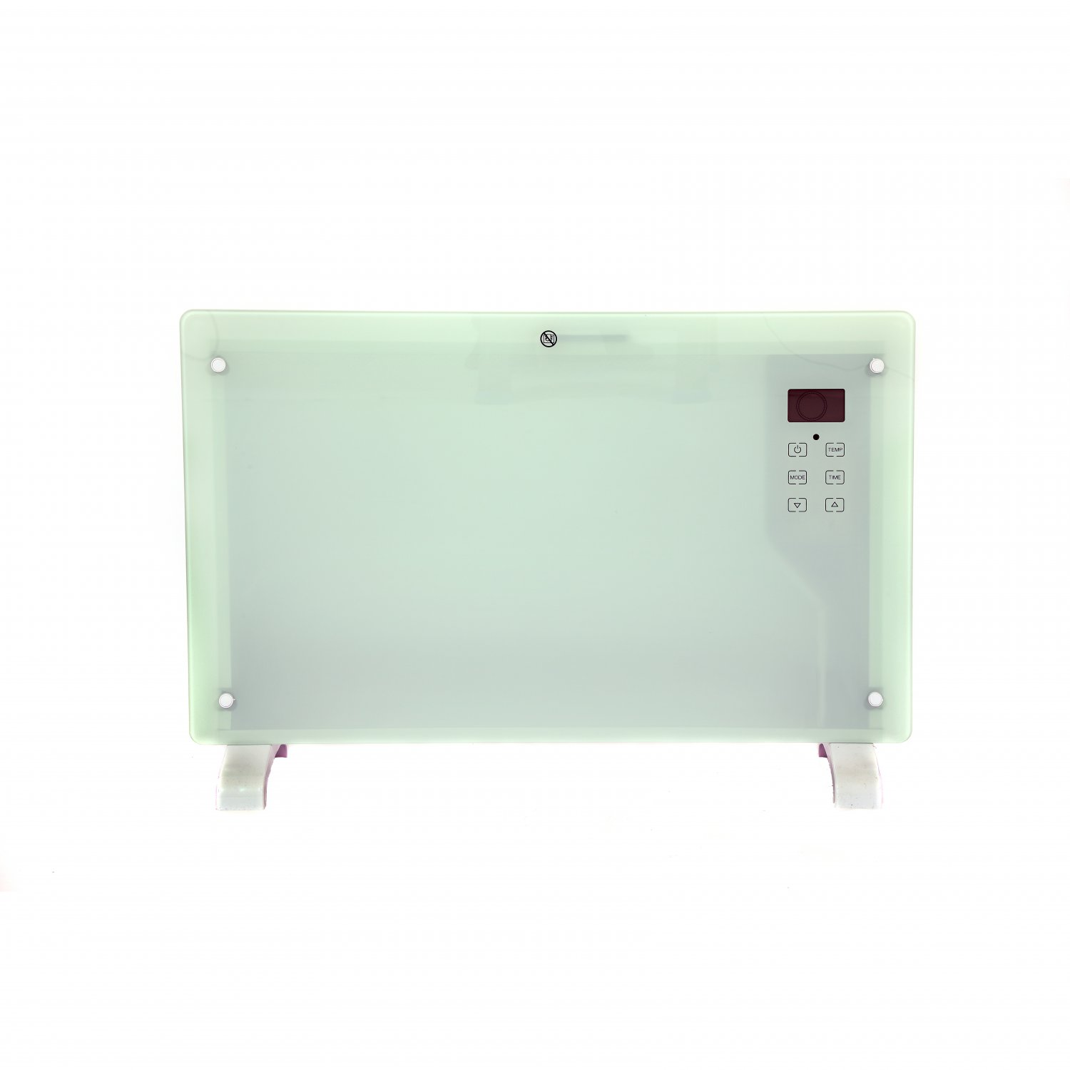 2000W White Glass Free Standing Electric Panel Convector Heater