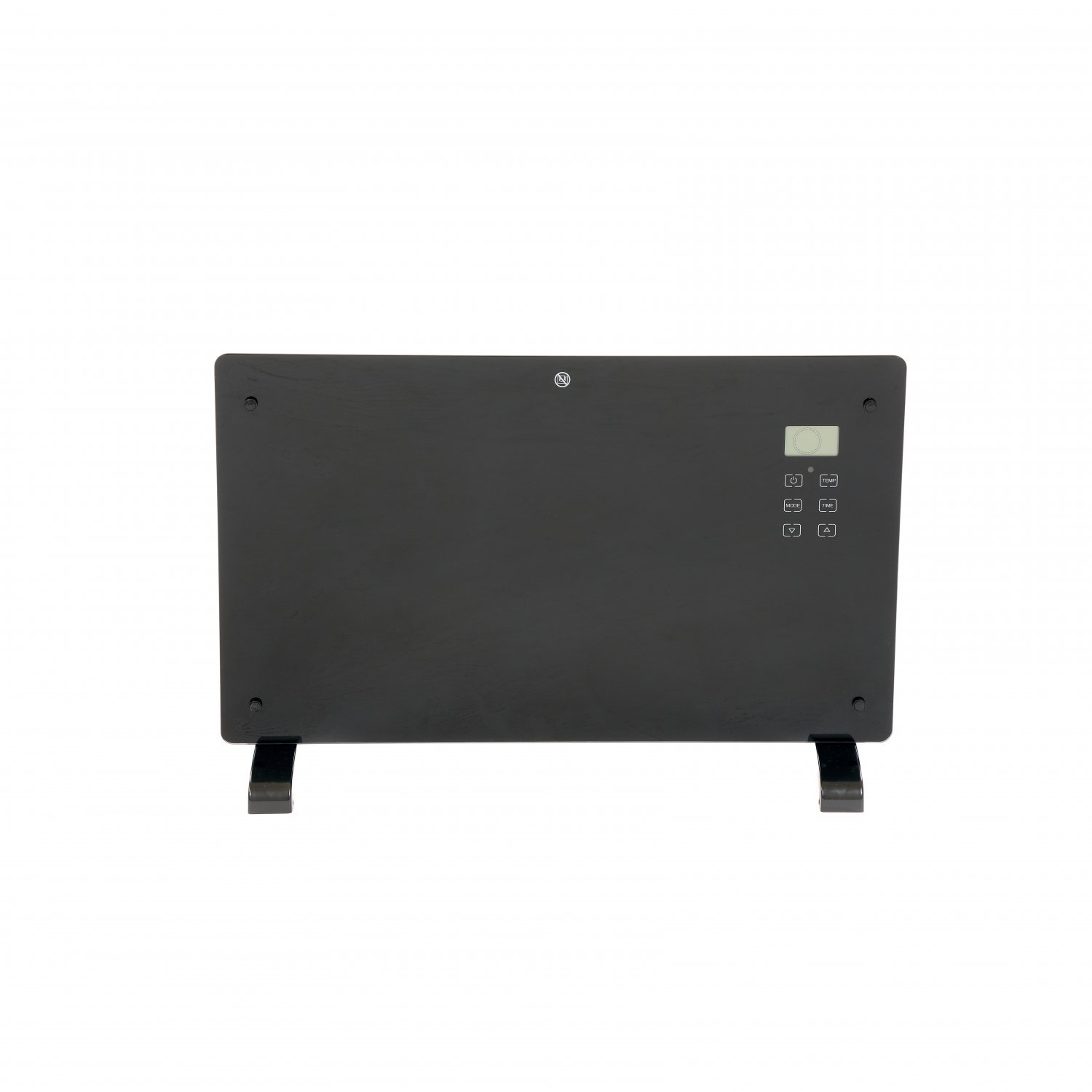 2000W Black Glass Free Standing Electric Panel Convector Heater