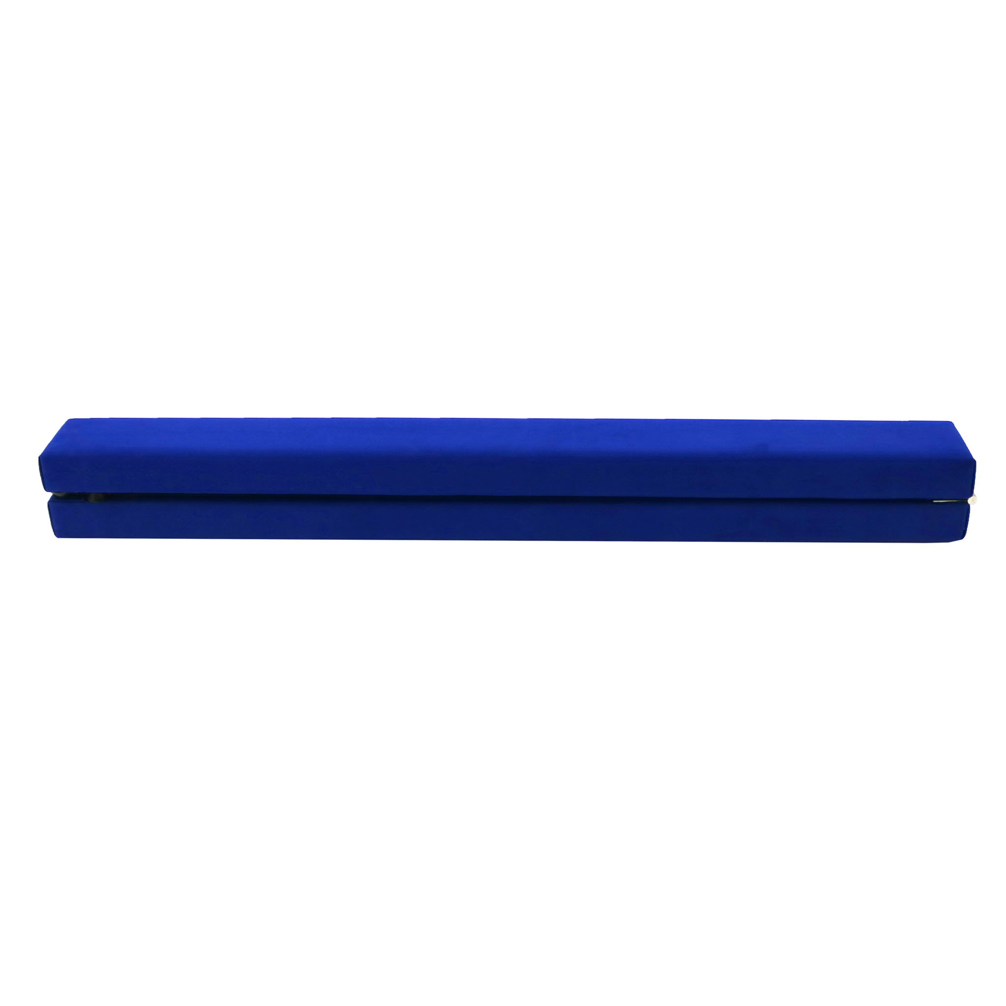 7ft 2.1m Folding Gymnastic Training Balance Beam Blue Faux Suede