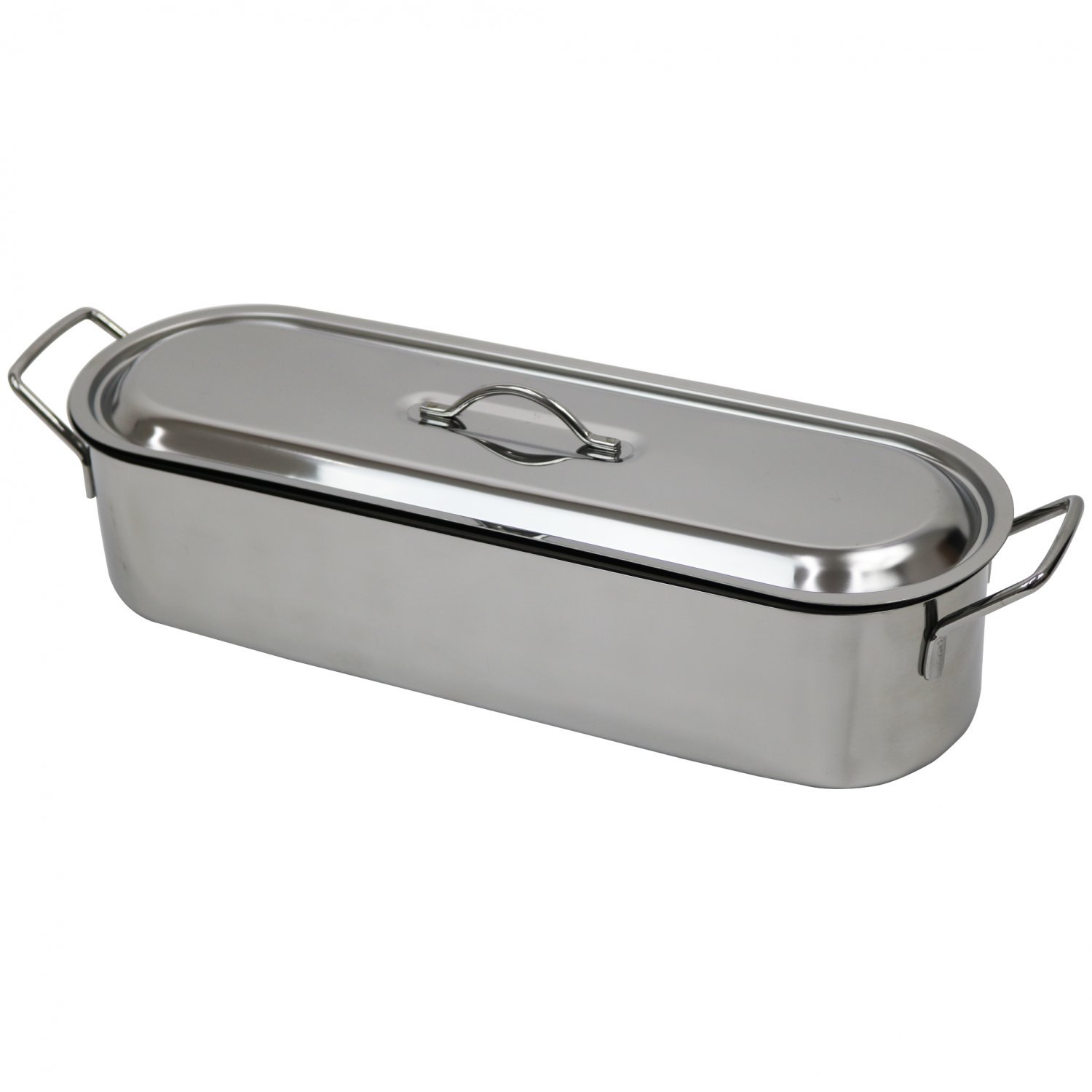 7.5L 46cm Stainless Steel Fish Poacher Steamer Poaching Pan