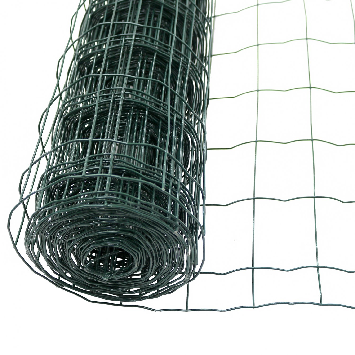 1.2m x 10m Green PVC Coated Galvanised Steel Wire Mesh Fencing