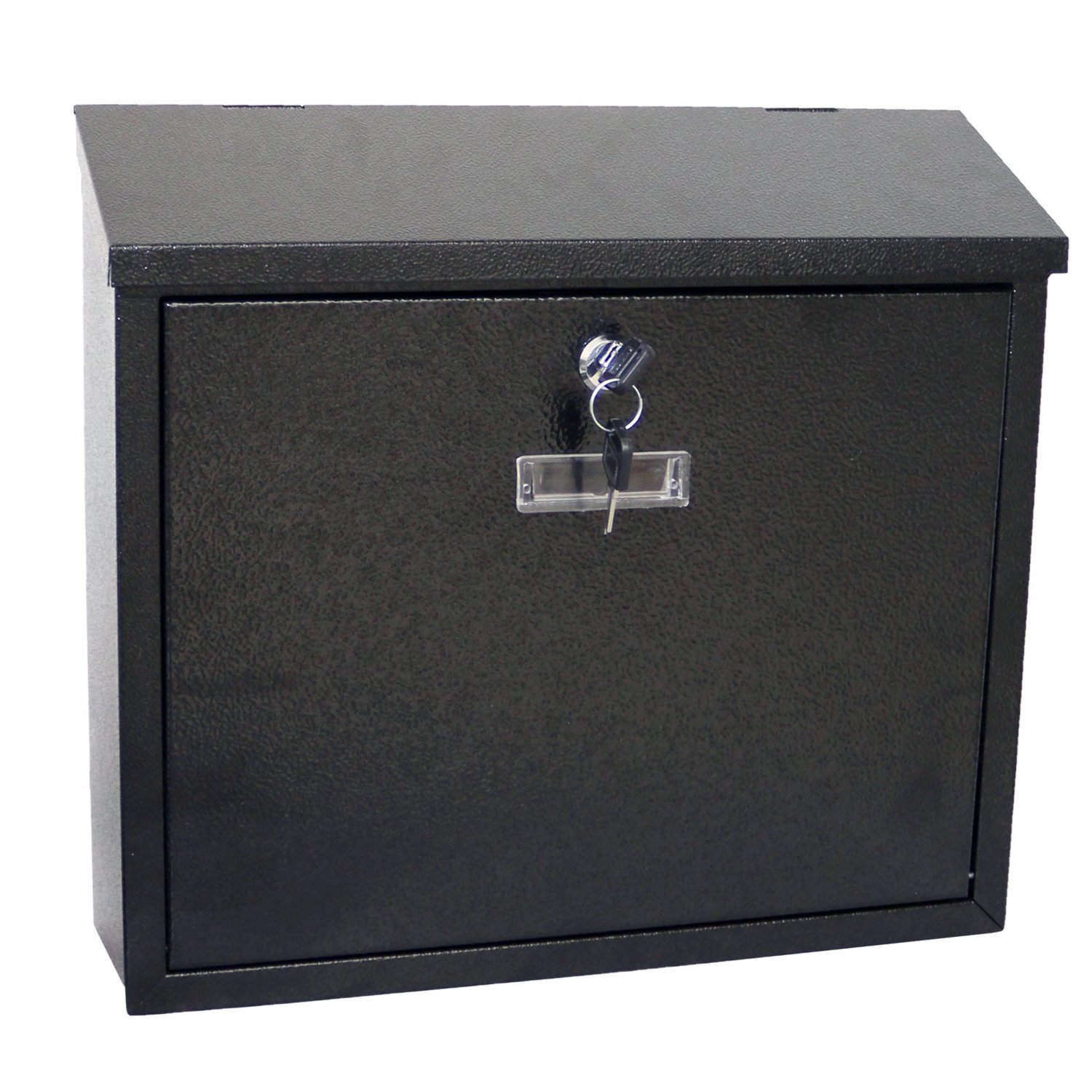 Black Wall Mounted Lockable Waterproof House Mailbox Postbox