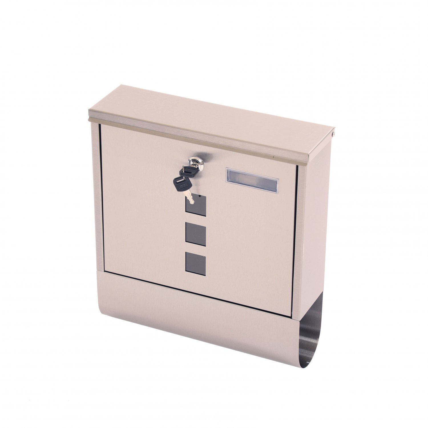 Wall Mounted Stainless Steel Mail Letter Post Box with Newspaper