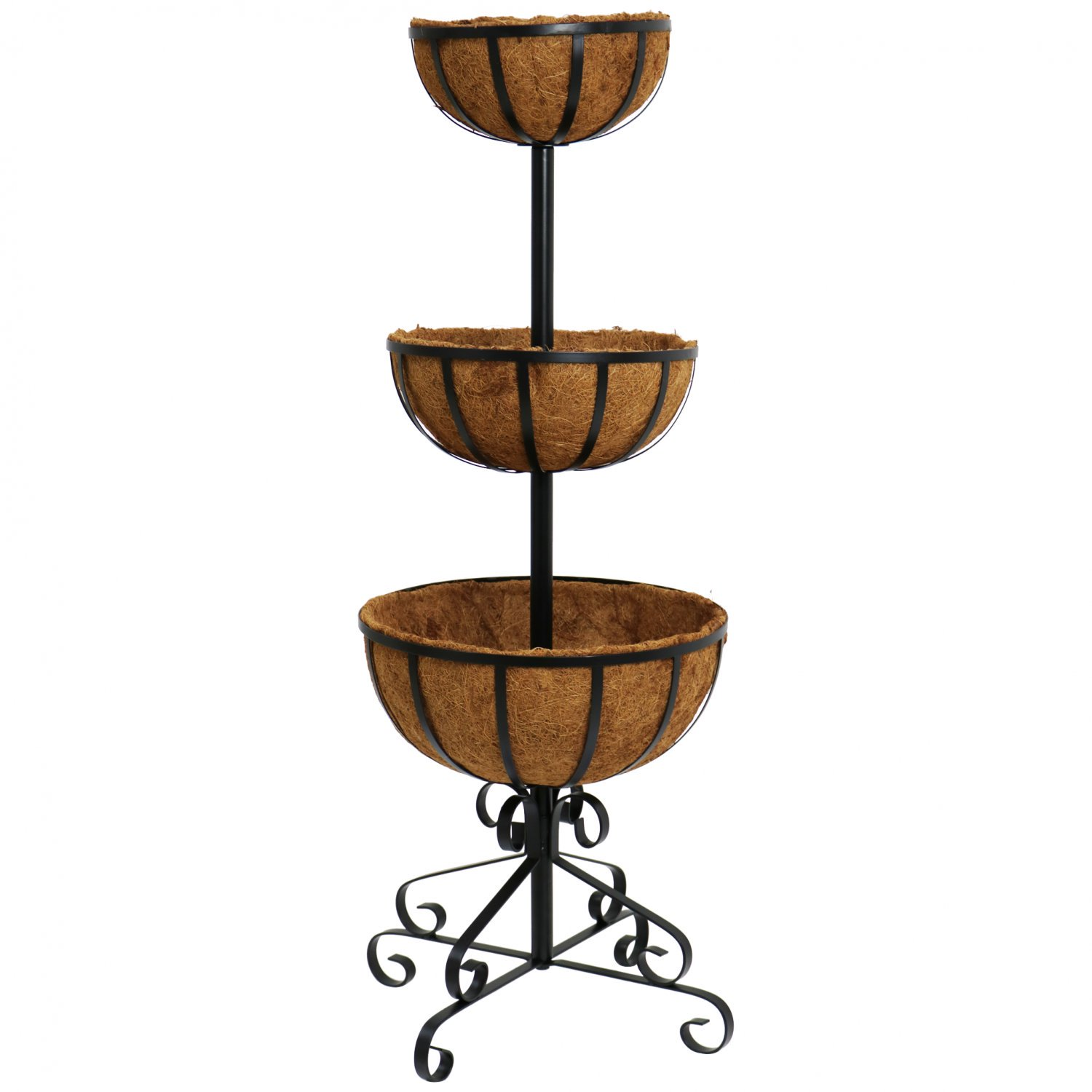 3 Tier Metal Garden Flower Fountain Plant Display Stand