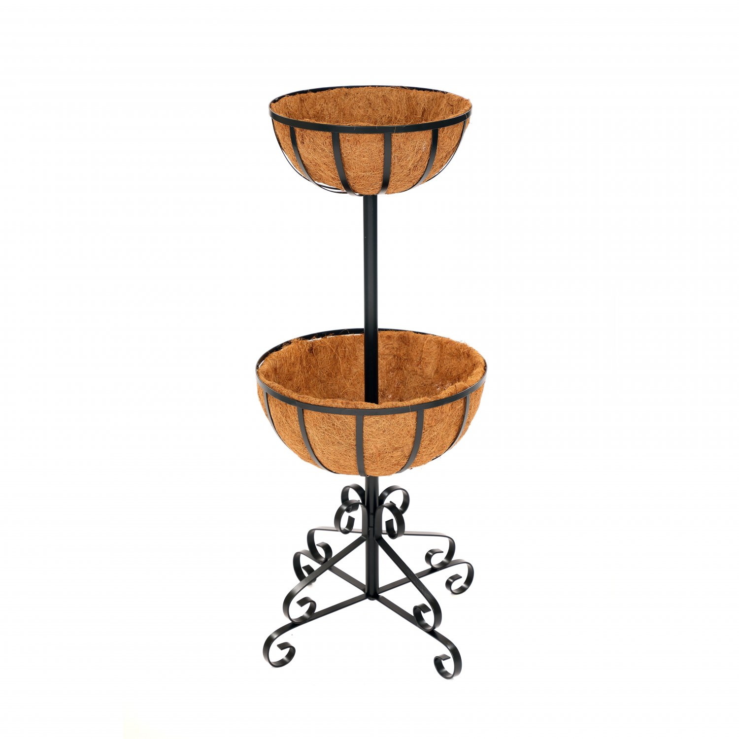2 Tier Metal Garden Flower Fountain Plant Display Stand
